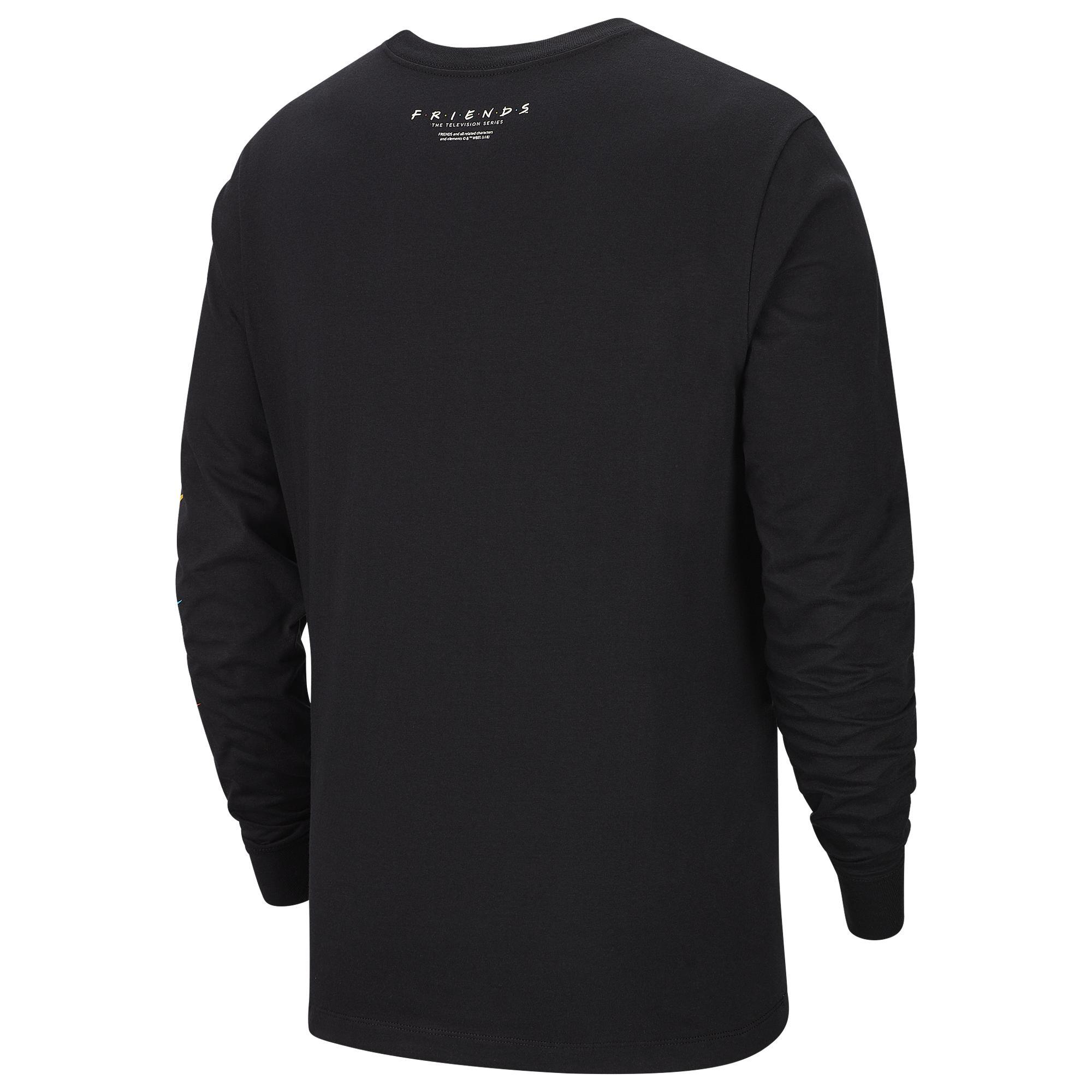 newest b8026 bf707 Men's Black Kyrie Friends Long Sleeve T-shirt