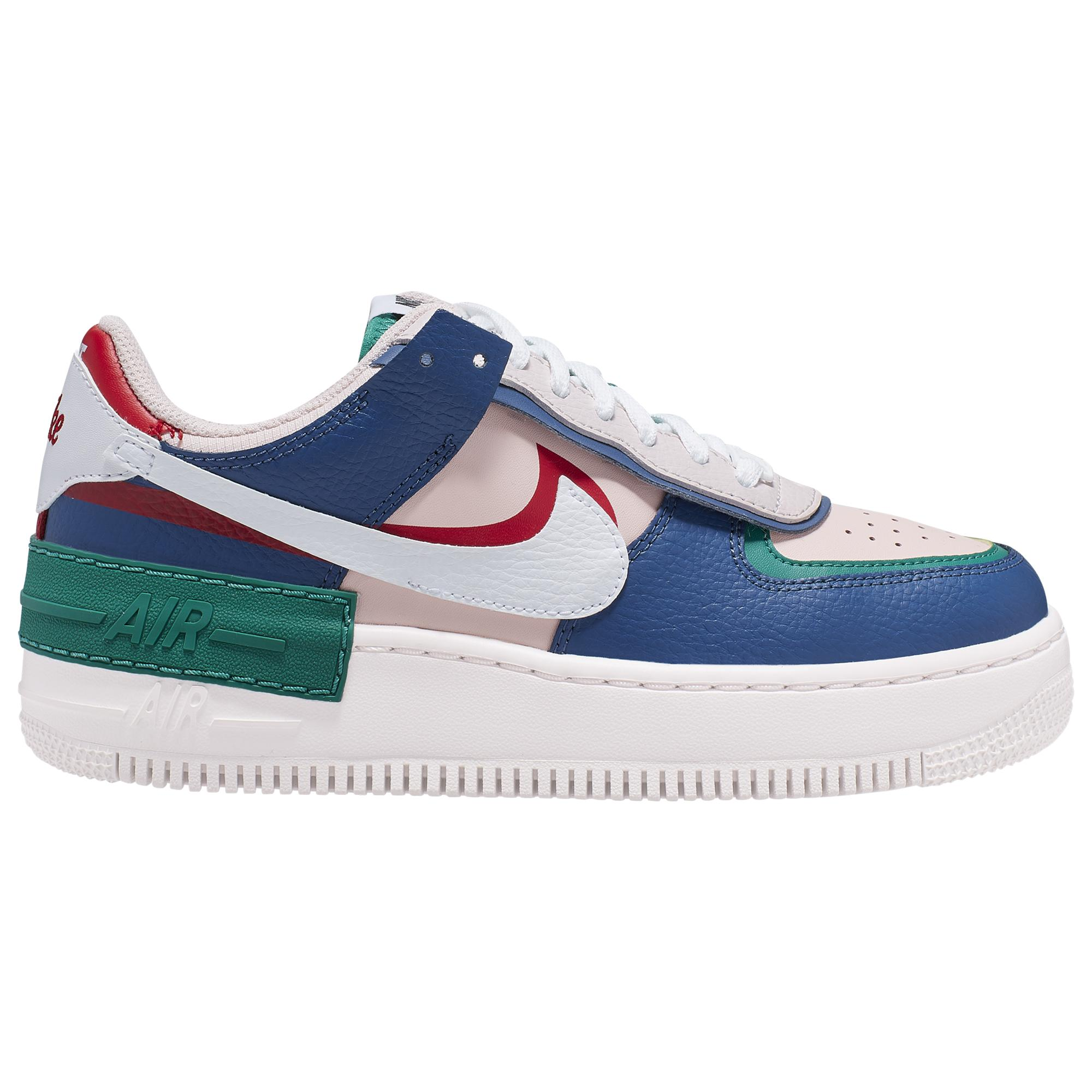 Nike Leather Air Force 1 Shadow Low-top sneakers in Navy/Pink ...