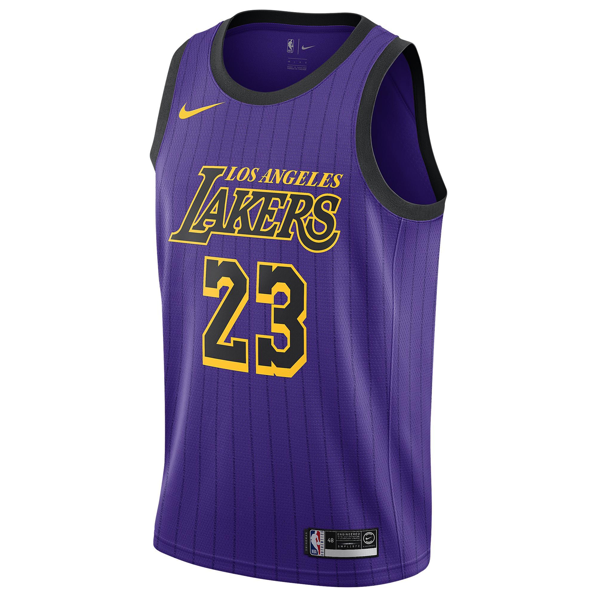 Lebron James Los Angeles Lakers City Swingman Jersey 2018