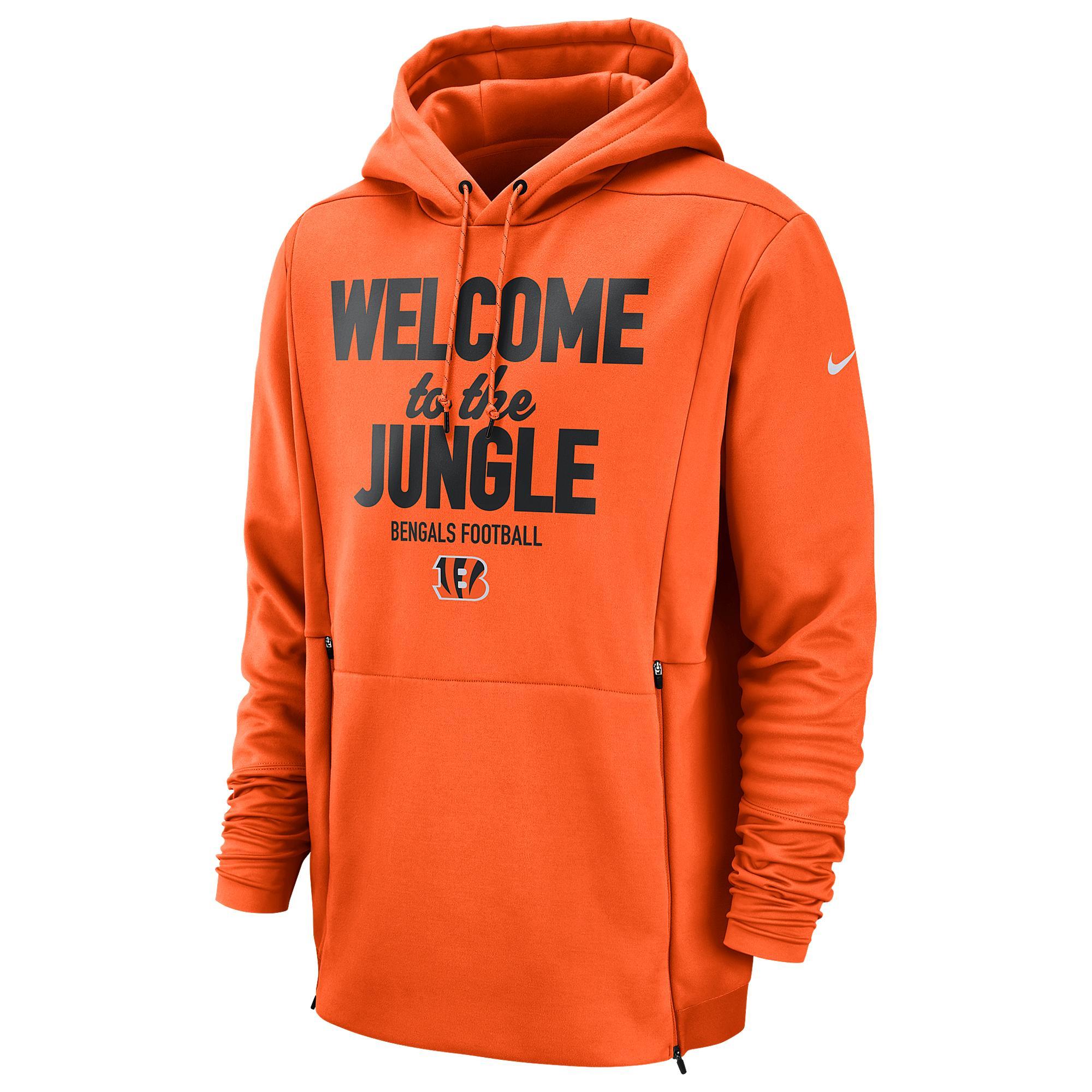 half off 56903 4da41 Men's Orange Nfl Sideline Local Player Fleece Hoodie