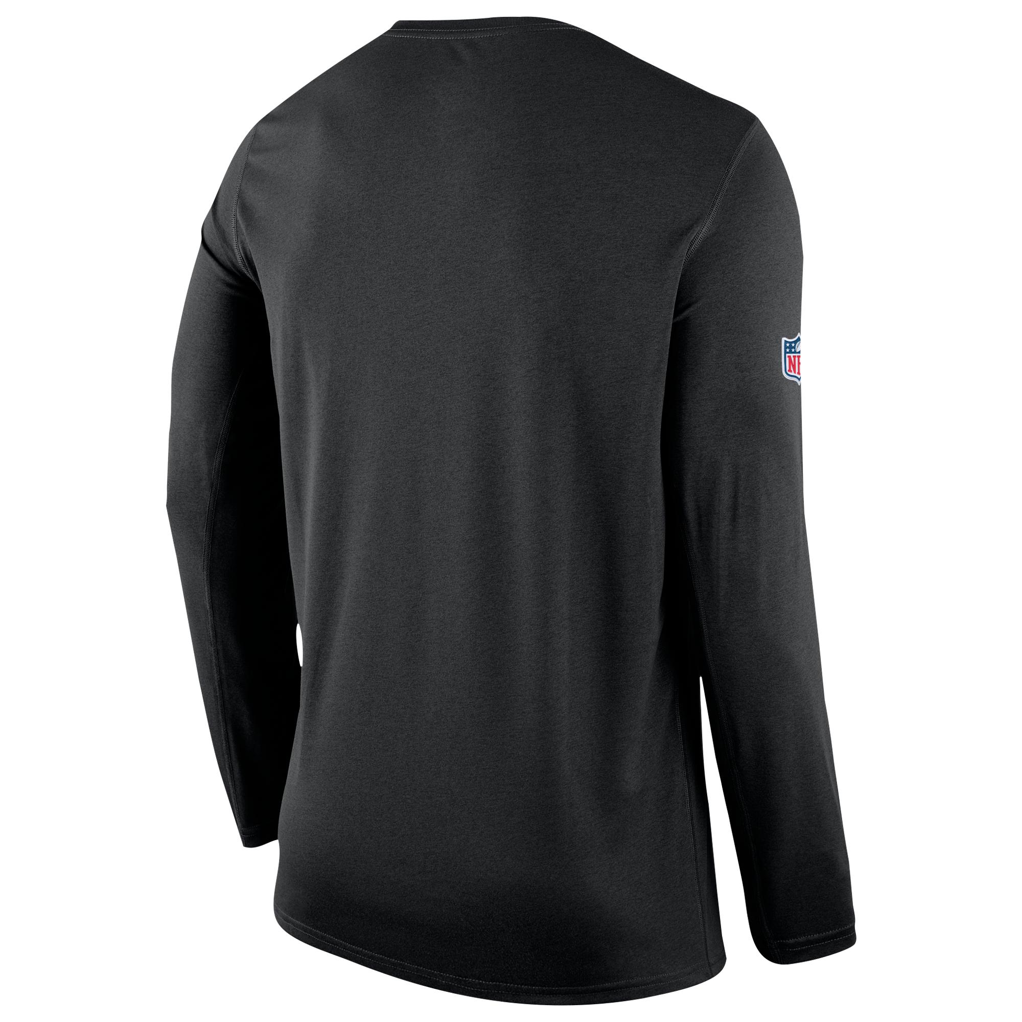 1cab1230 Nike Carolina Panthers Nfl Onfield Sideline L/s Seismic T-shirt in ...