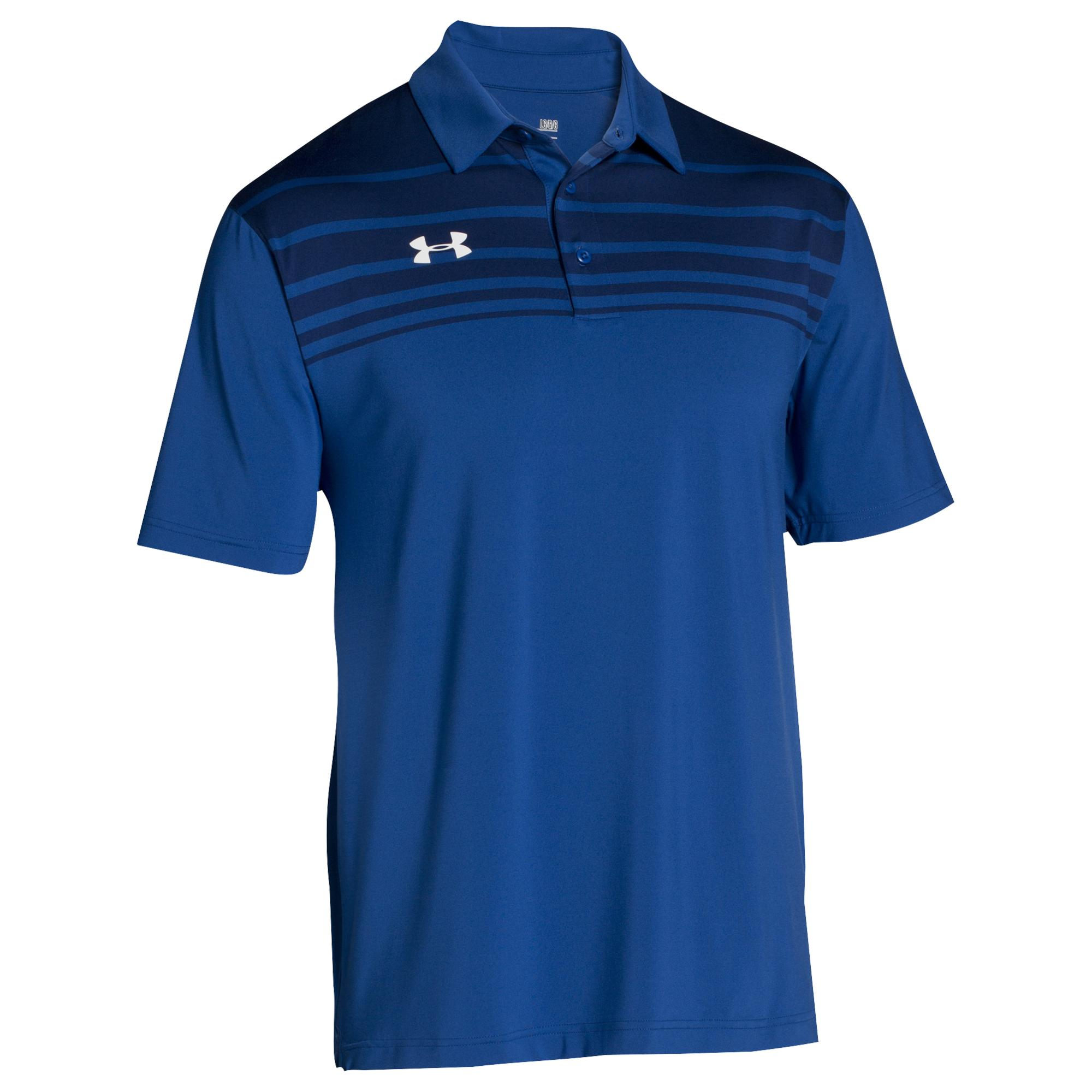 ed836f05a9 Men's Blue Victor Polo Shirt Ua Short Sleeve Golf Shirts (royal
