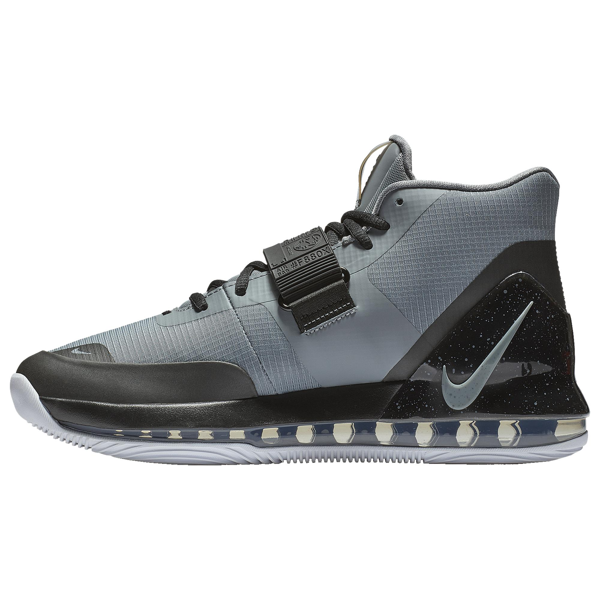 Nike Air Force Max Basketball Shoes in Cool Grey/Black/White ...