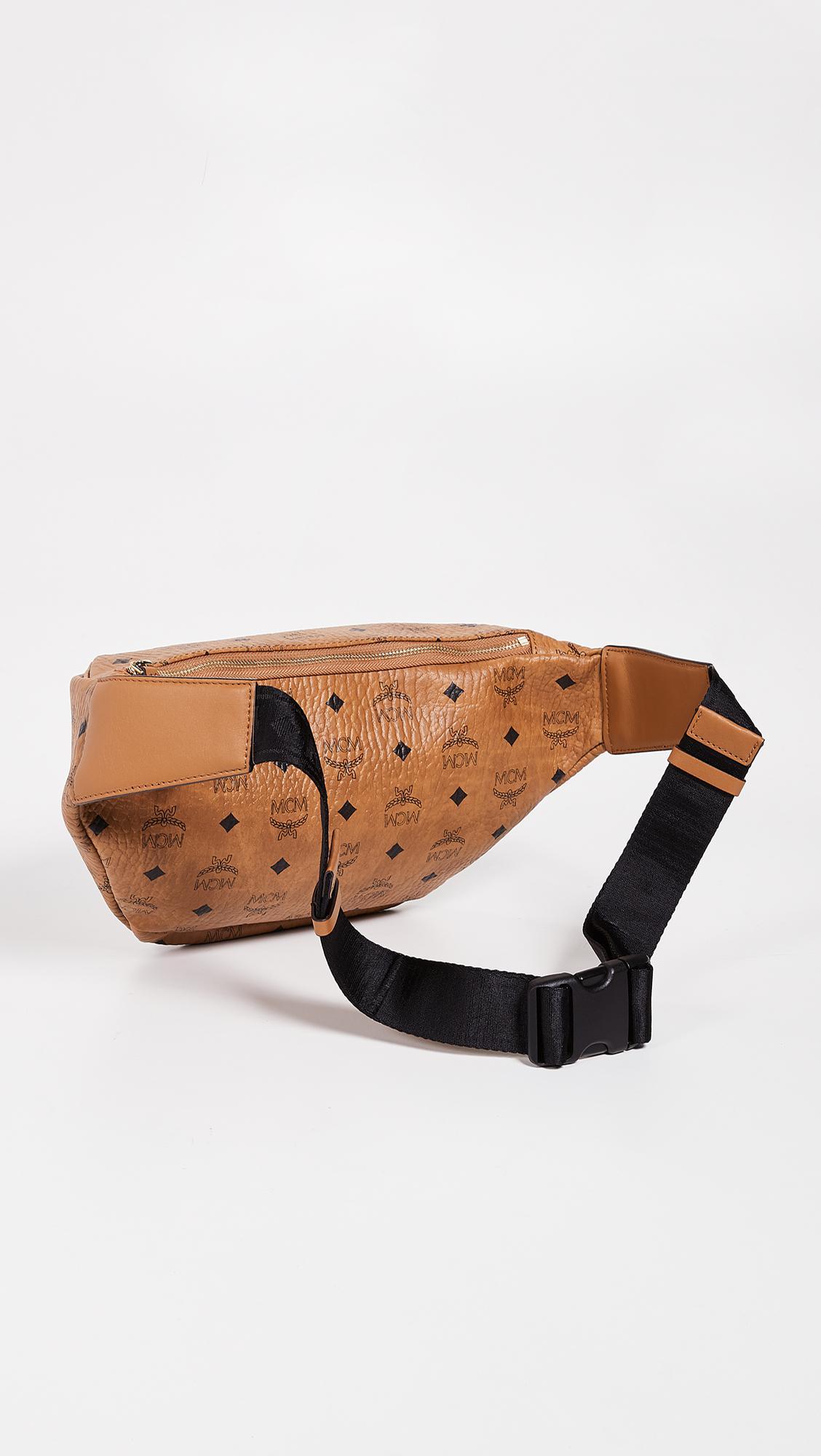 8b0a37c089c Lyst - MCM Stark Medium Belt Bag in Brown for Men