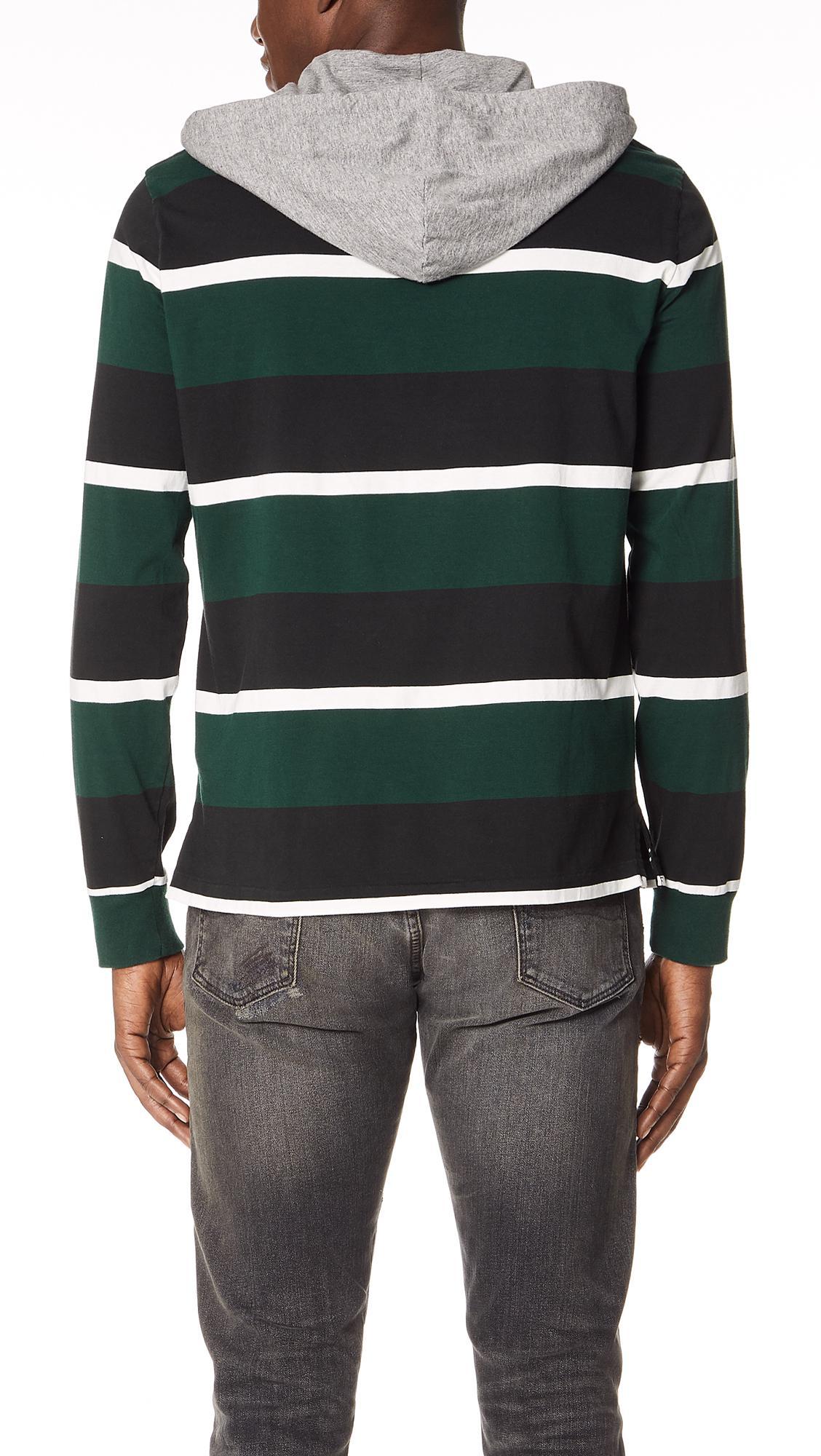 ee09eae9ac3d ... get polo ralph lauren green striped hooded pullover for men lyst. view  fullscreen f7653 4d999