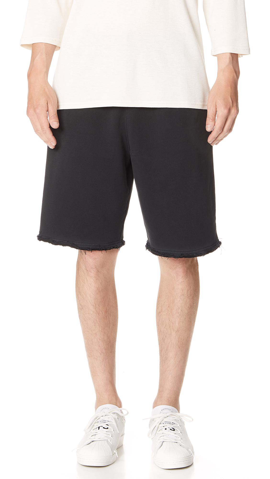 Helmut Lang Mens Distressed-Hem Knit Shorts For Cheap Online Discount Pick A Best Classic Countdown Package l3T0nBvQ
