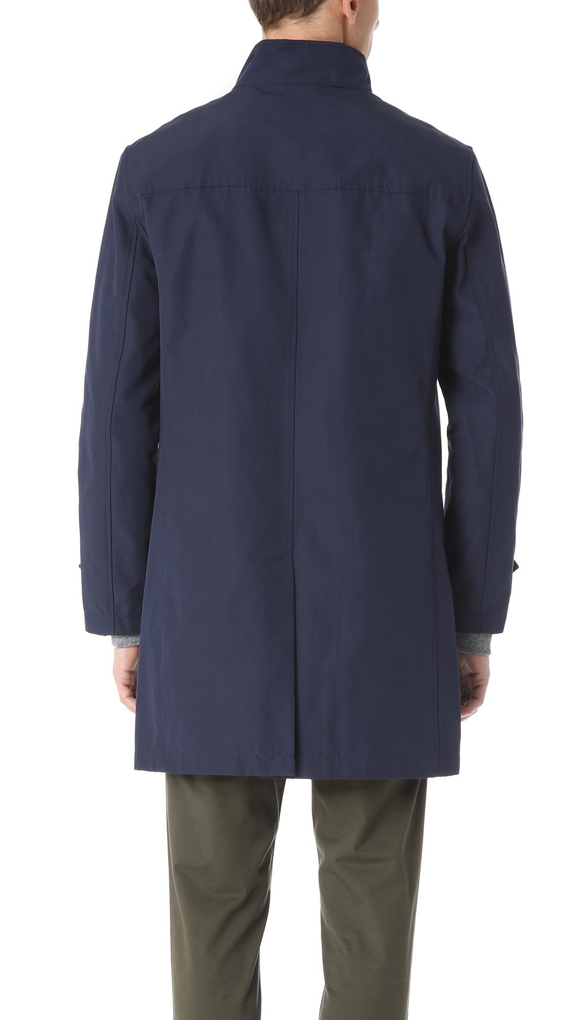 Club Monaco Cotton Mac Jacket in Navy (Blue) for Men