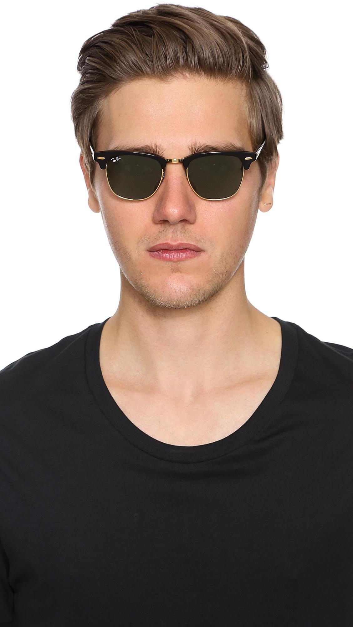 93df49afa Ray-Ban - Black Clubmaster Classic Sunglasses for Men - Lyst. View  fullscreen