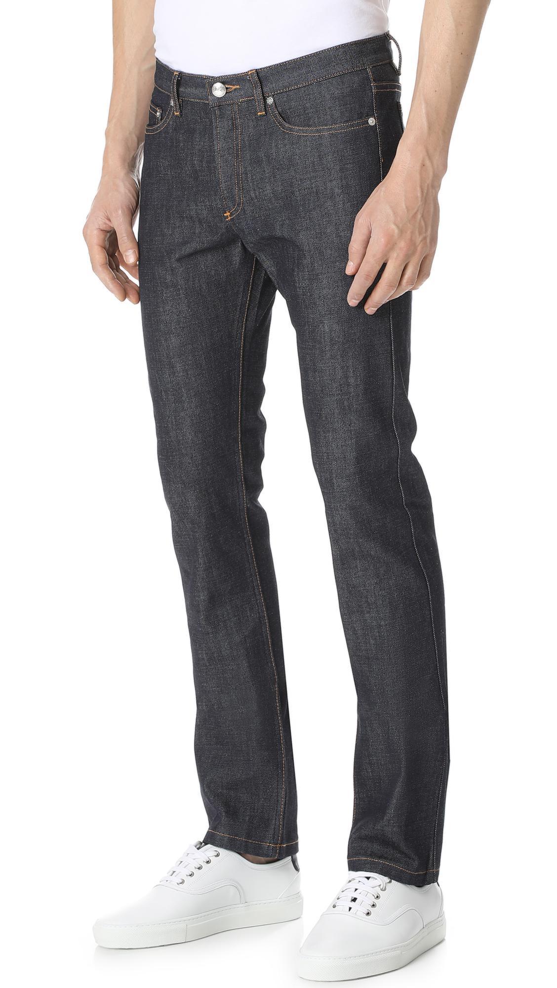 A.P.C. Denim New Cure Indigo Jeans in Blue for Men