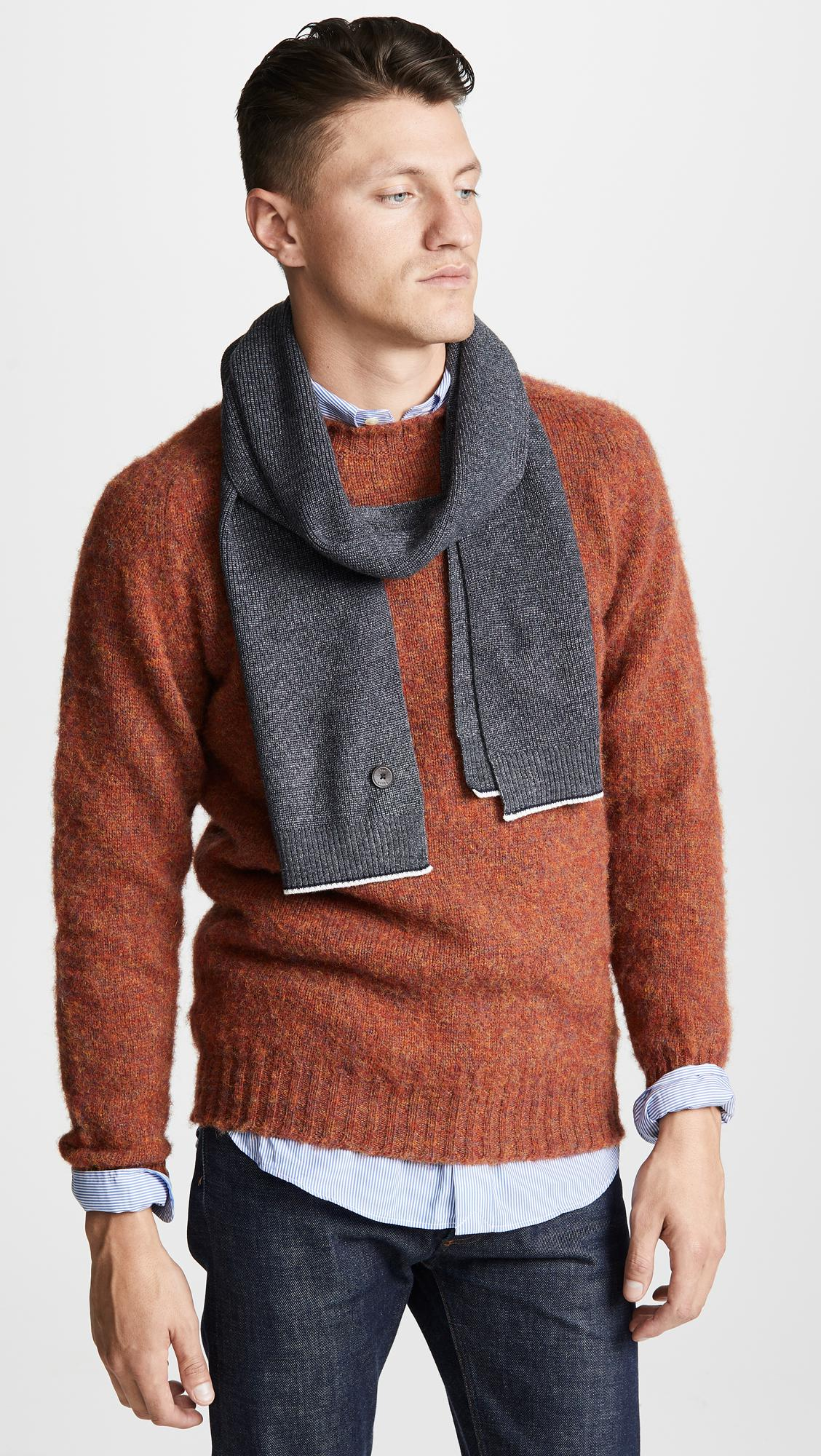 c644985072ca Ted Baker - Gray Redscarf Marled Scarf for Men - Lyst. View fullscreen
