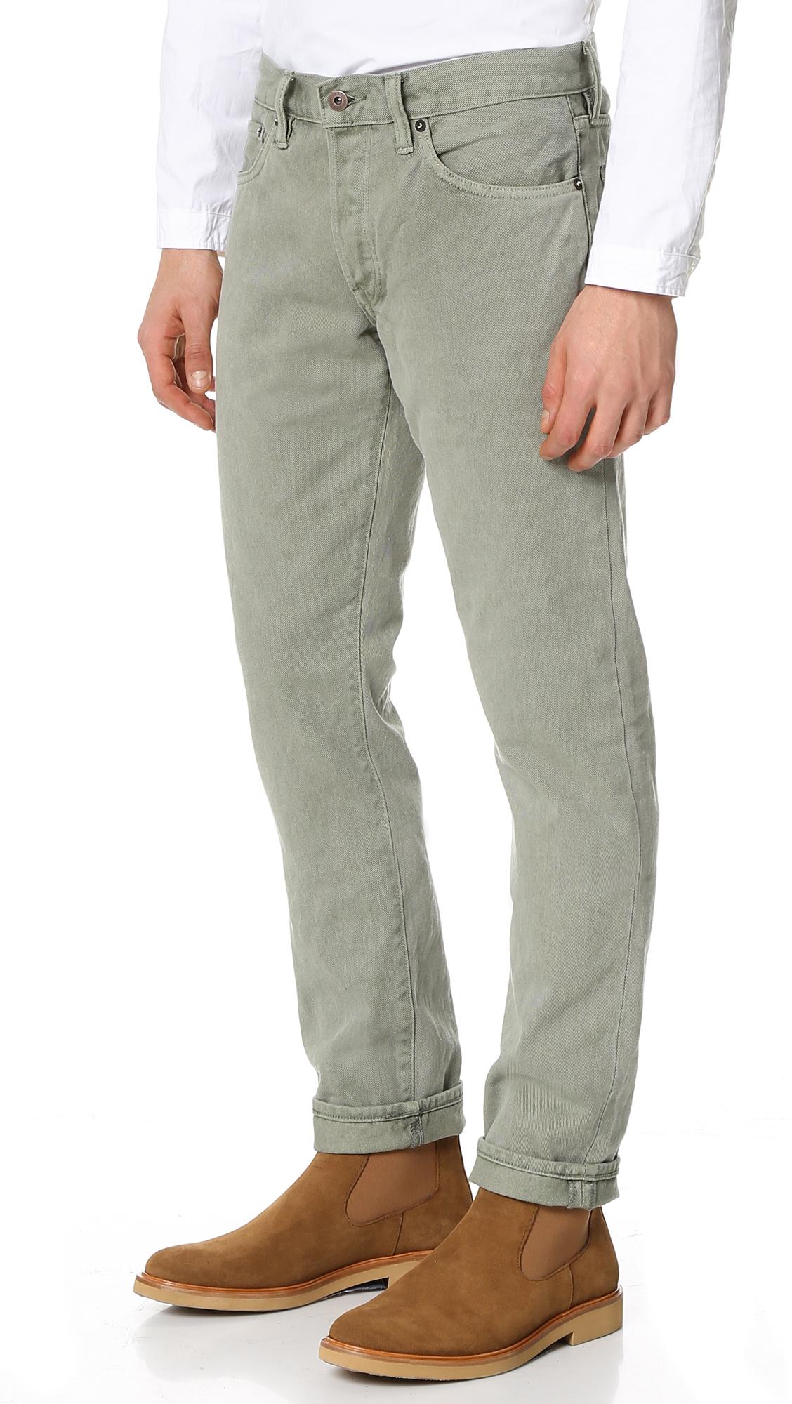 Simon Miller Denim M002 Cadiz Narrow Jeans in Grey for Men