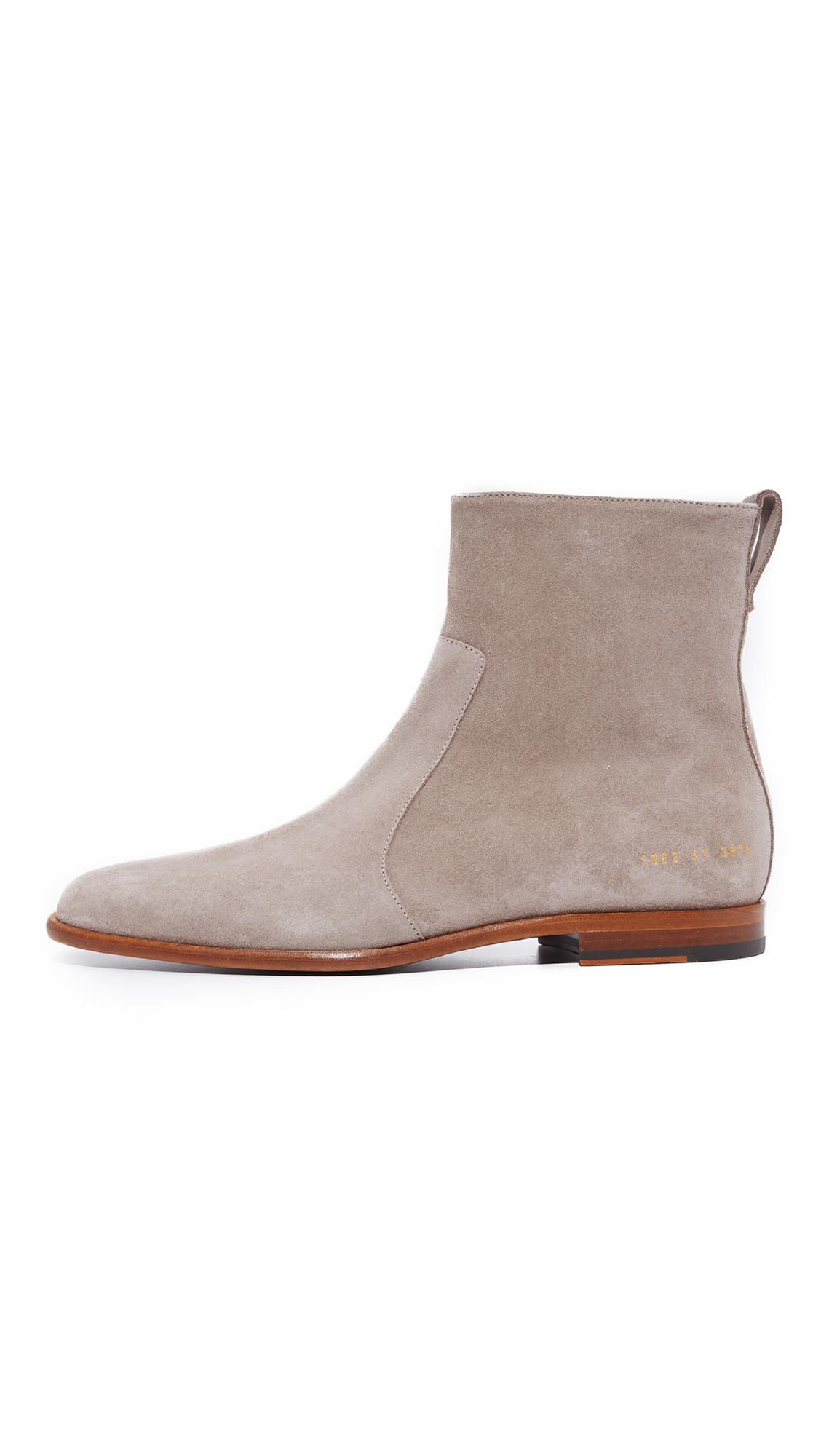 Robert Geller Suede X Common Projects Chelsea Boots