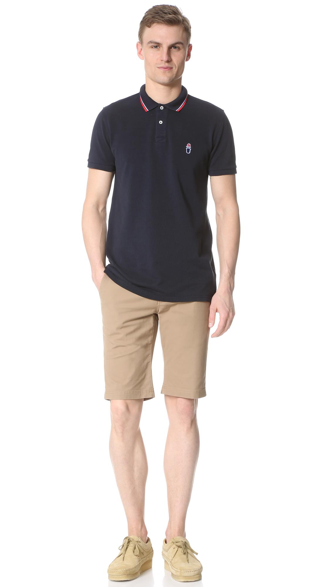 Capital Goods Cotton Polo Shirt in Navy (Blue) for Men