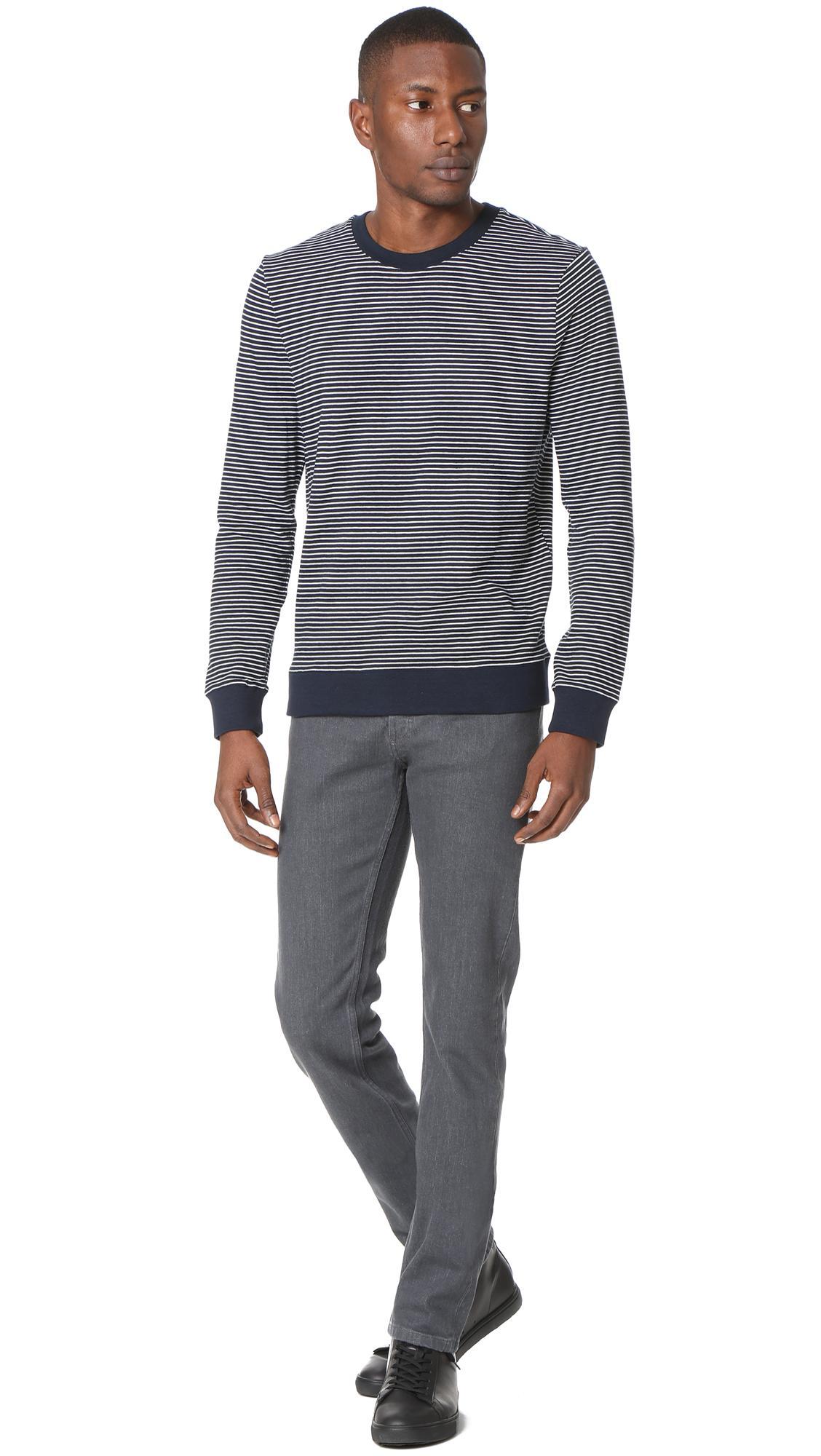 A.P.C. Cotton Jeremie Sweatshirt in Dark Navy (Blue) for Men