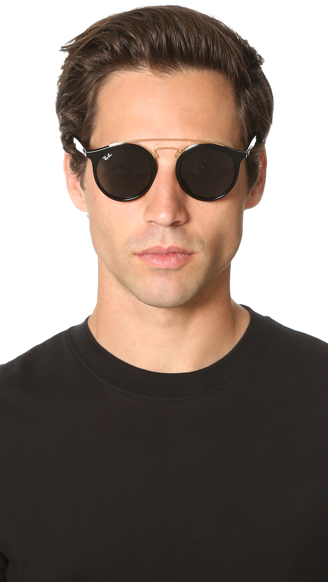 ray ban double bridge black