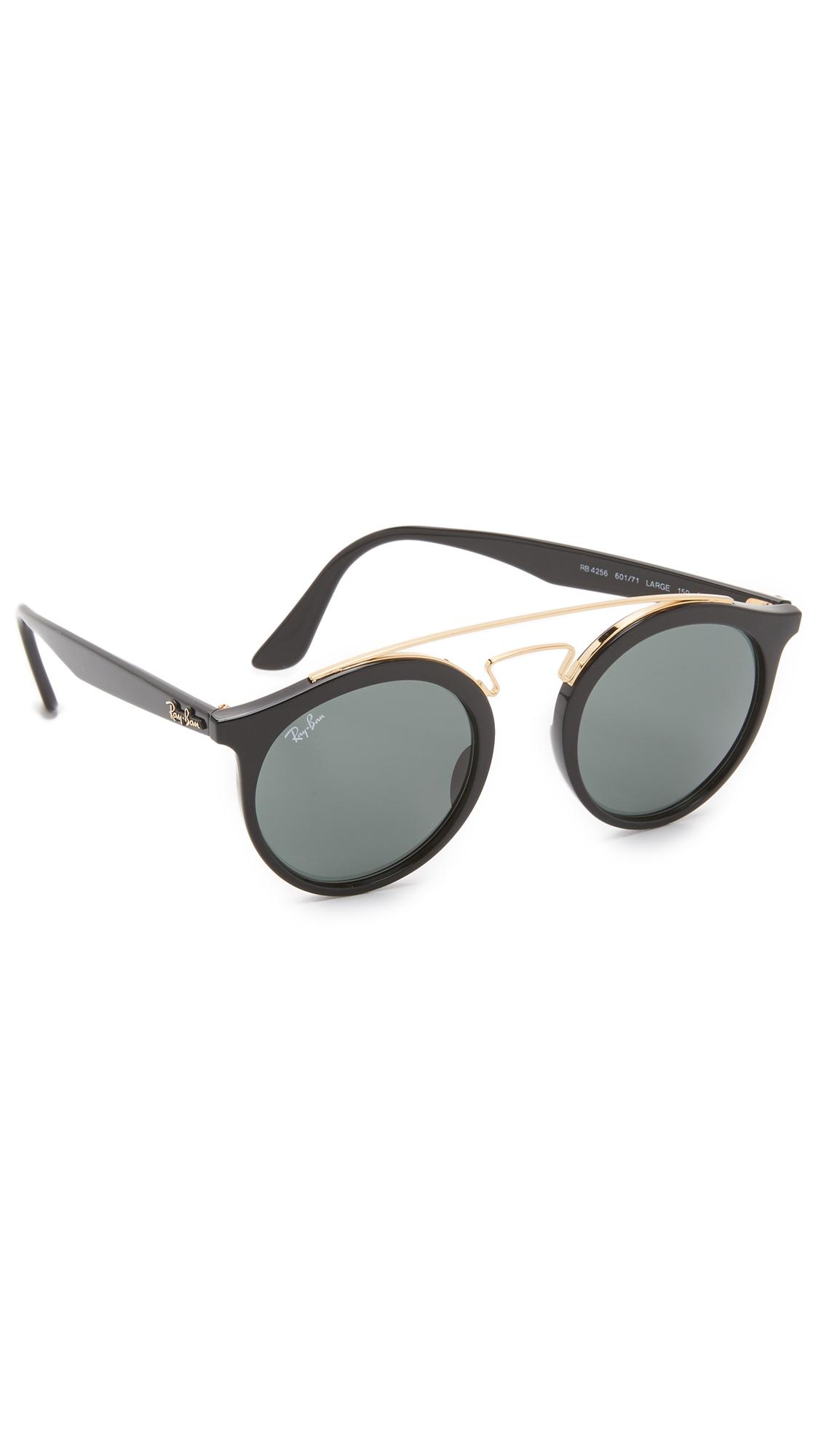 a8e25f0681 Lyst - Ray-Ban Double Bridge Round Sunglasses in Gray for Men