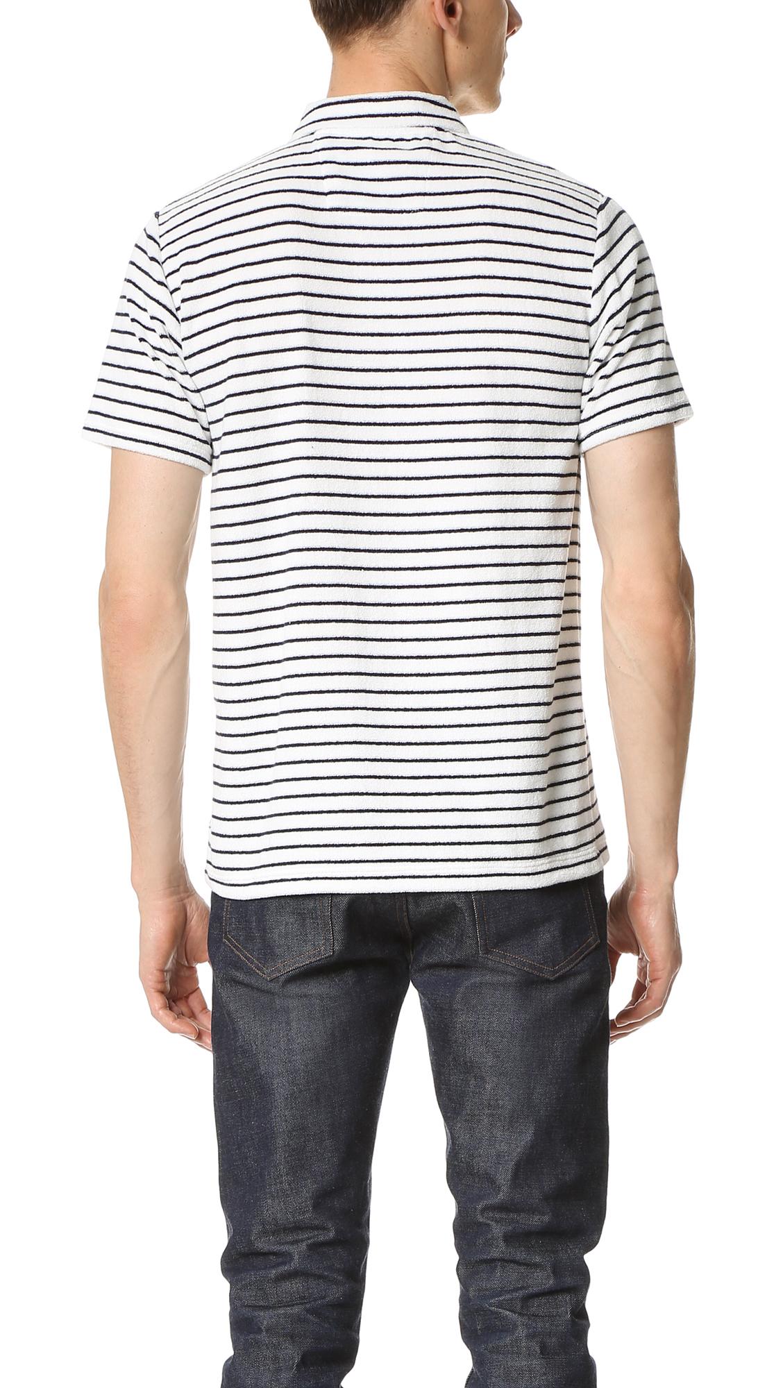 Ben Sherman Cotton Terry Polo in White for Men