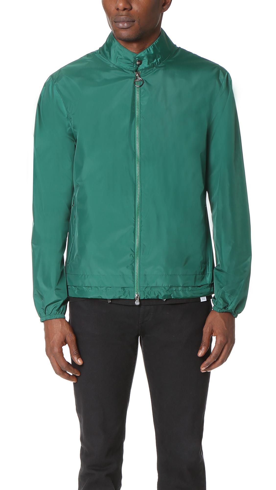 z zegna light shell travel jacket in green for men lyst