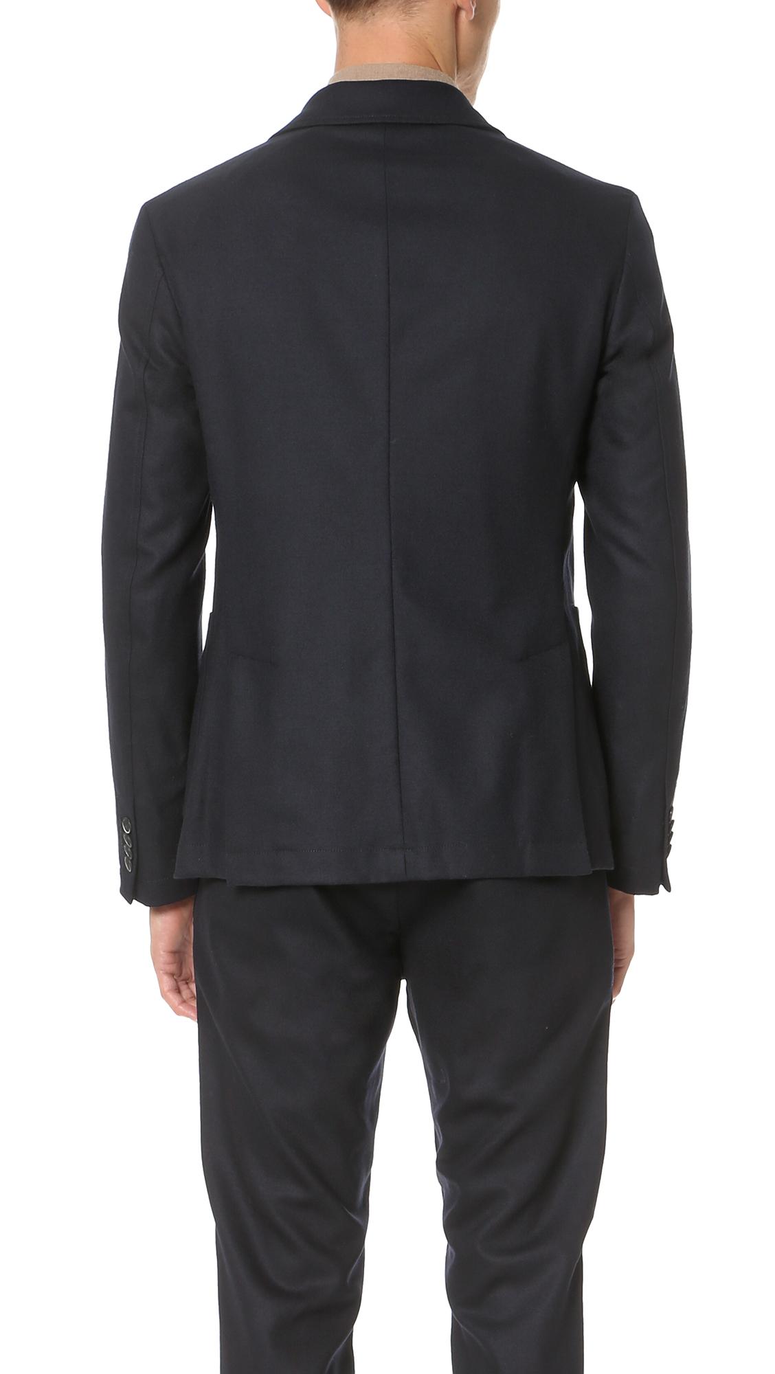 Barena Wool Jersey Jacket in Navy (Blue) for Men