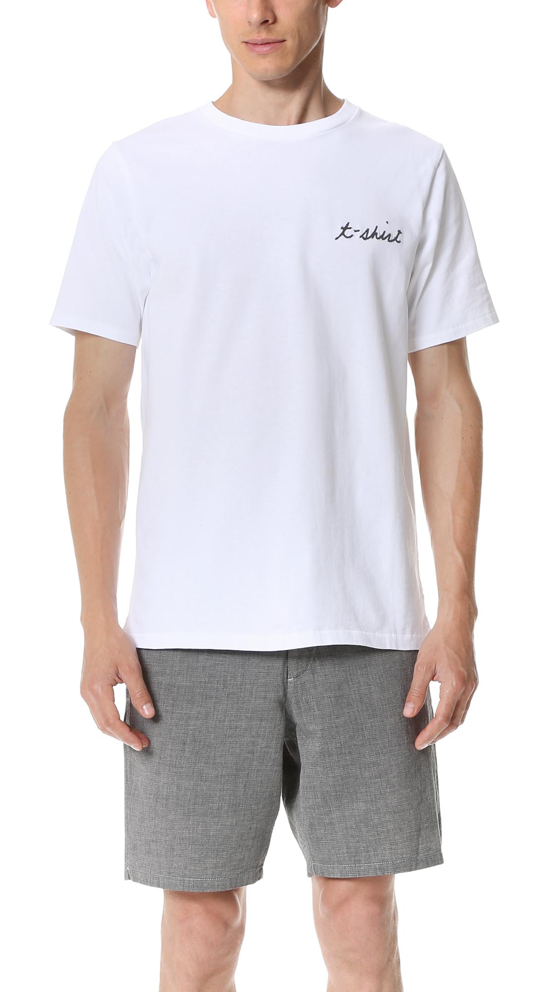 rag bone t shirt tee in white for men lyst