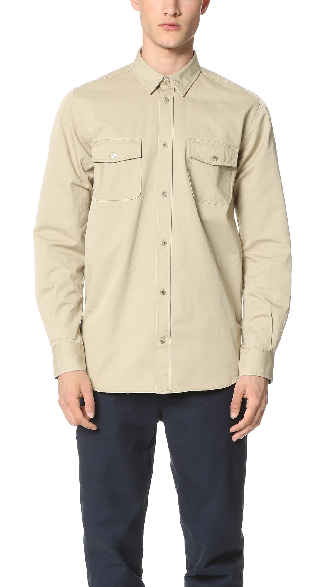 4d0f4929aa6 Norse Projects Villads Twill Shirt in Natural for Men - Lyst