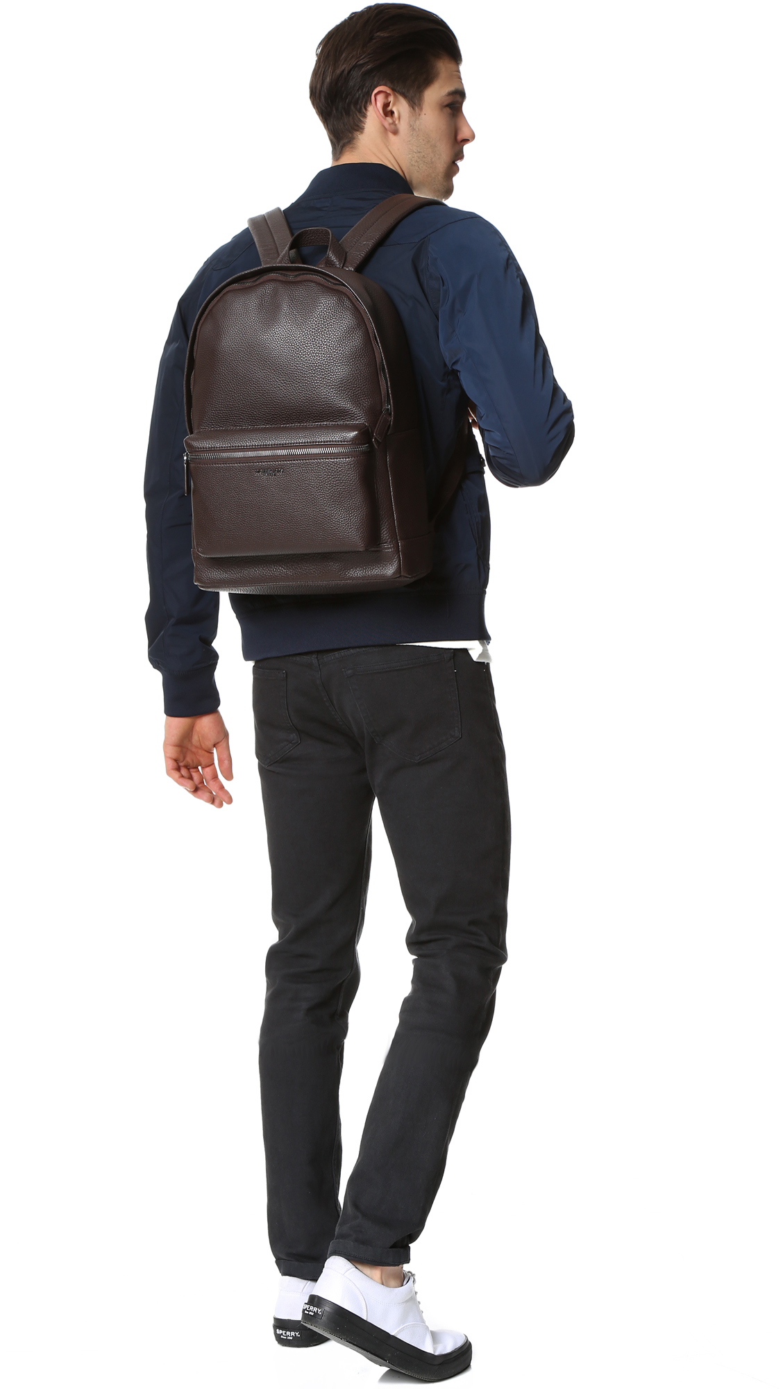 e3d2788cf4cd Michael Kors Bryant Pebbled Leather Backpack in Brown for Men - Lyst