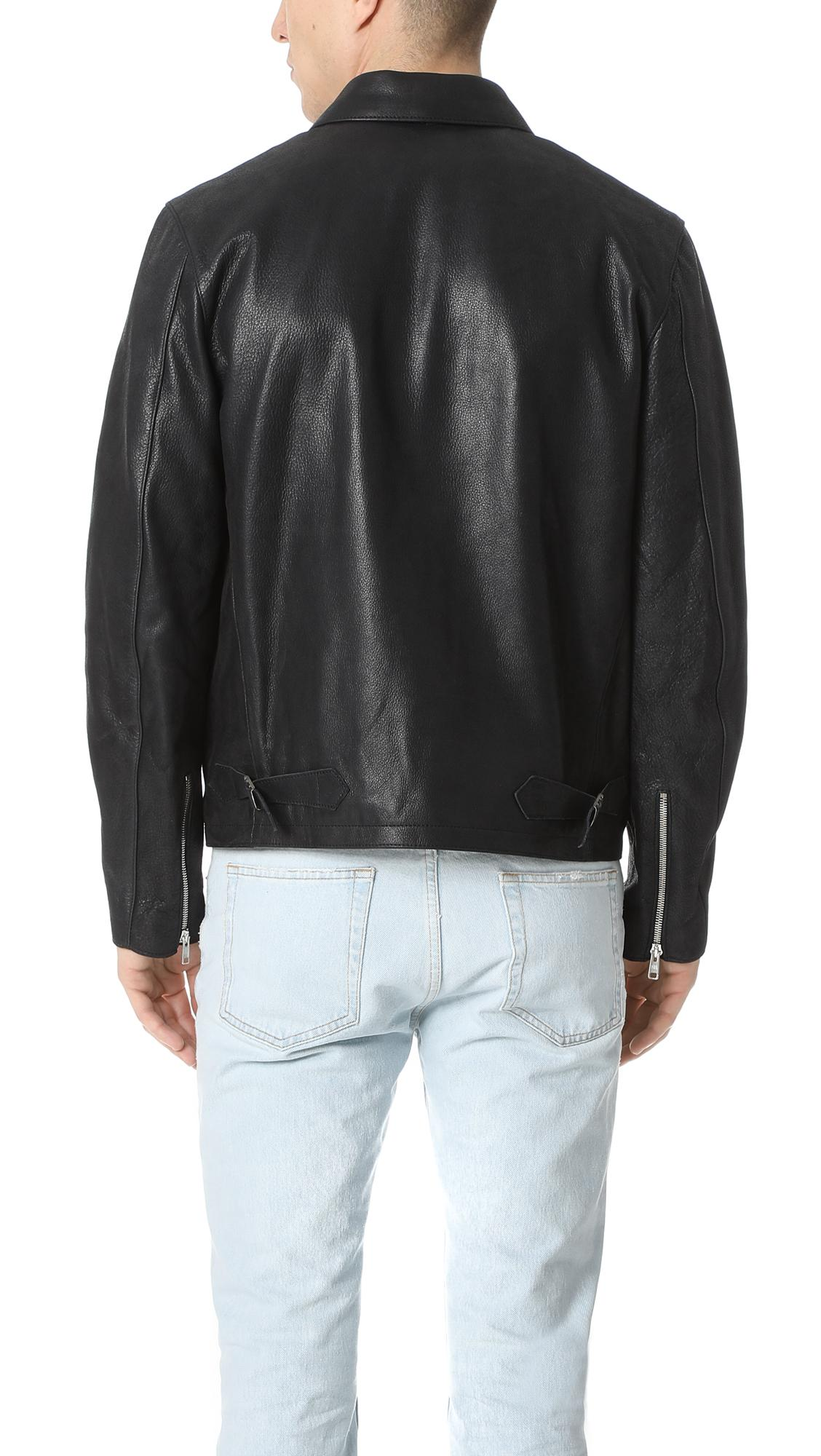 Our Legacy Ton Up Ii Leather Jacket in Black for Men