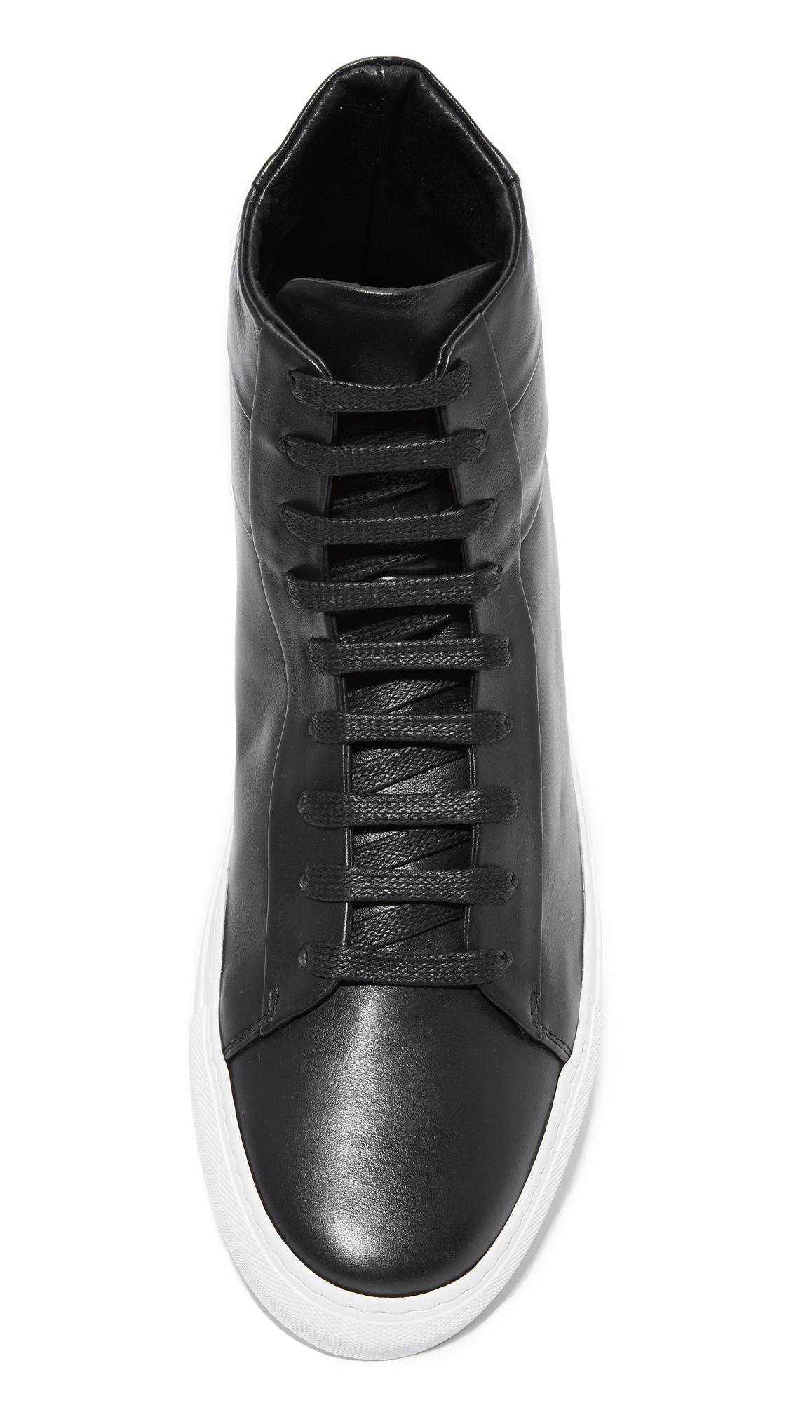 122bbc3786 Wings + Horns Black Court High Sneakers for men