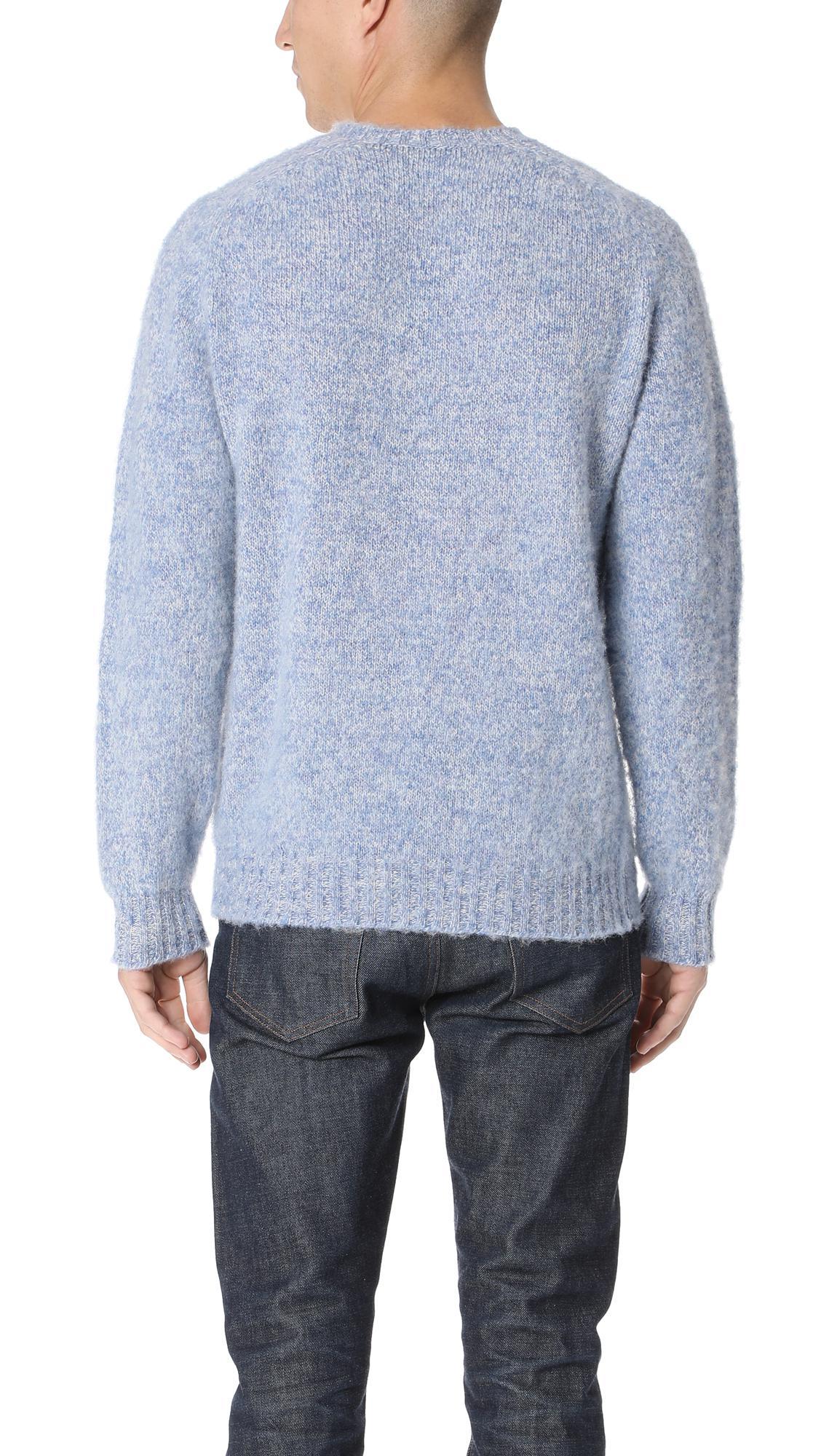 Howlin' By Morrison Wool Shaggy Bear Sweater in Blue for Men