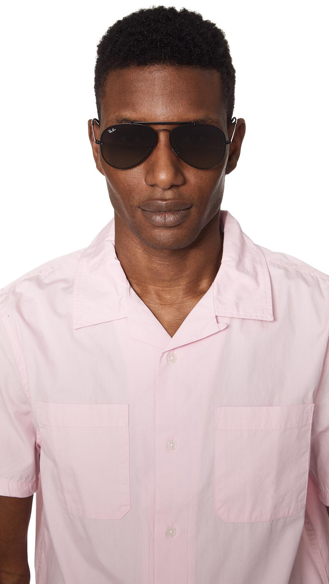 Men S Gray Blaze Aviator Sunglasses