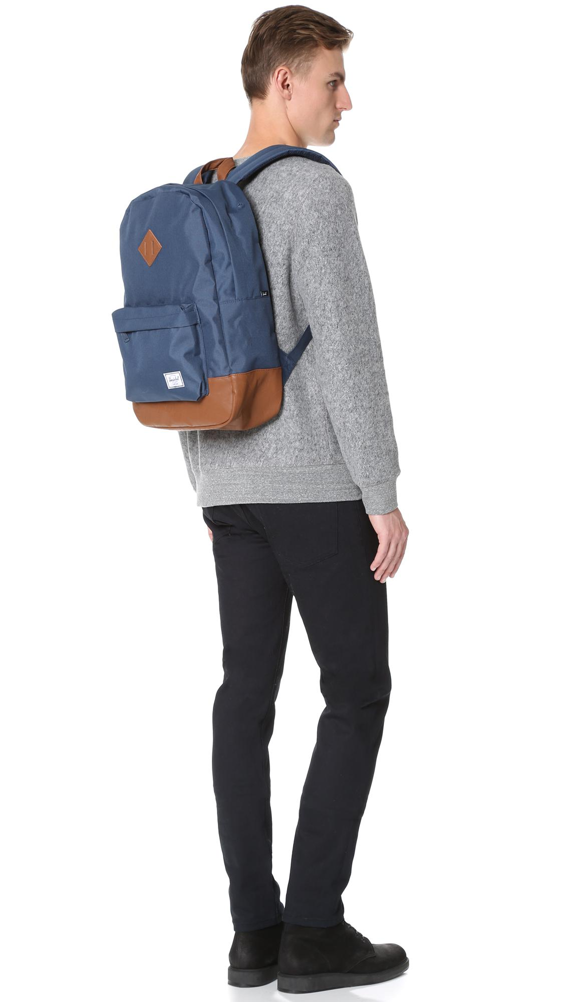 c8d20dc0e2 Herschel Supply Co. - Blue Heritage Classic Backpack for Men - Lyst. View  fullscreen