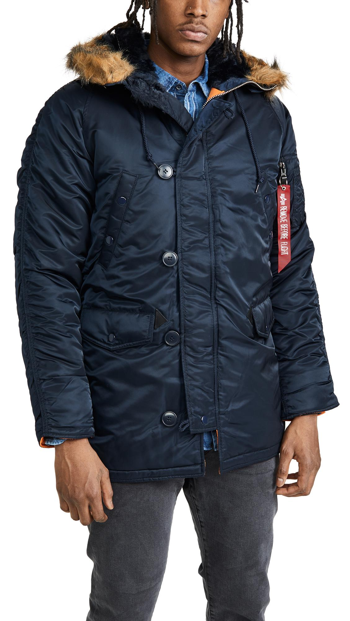 Alpha Industries Synthetic Slim Fit N3-b Jacket in Blue for Men
