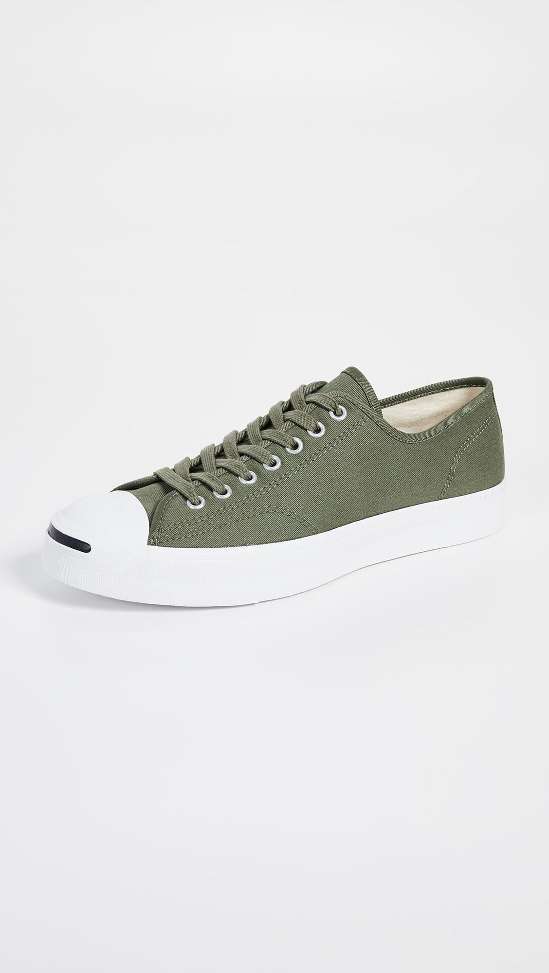 86b299cccc2c Lyst - Converse Jack Purcell Gold Standard Canvas Oxfords in Green ...