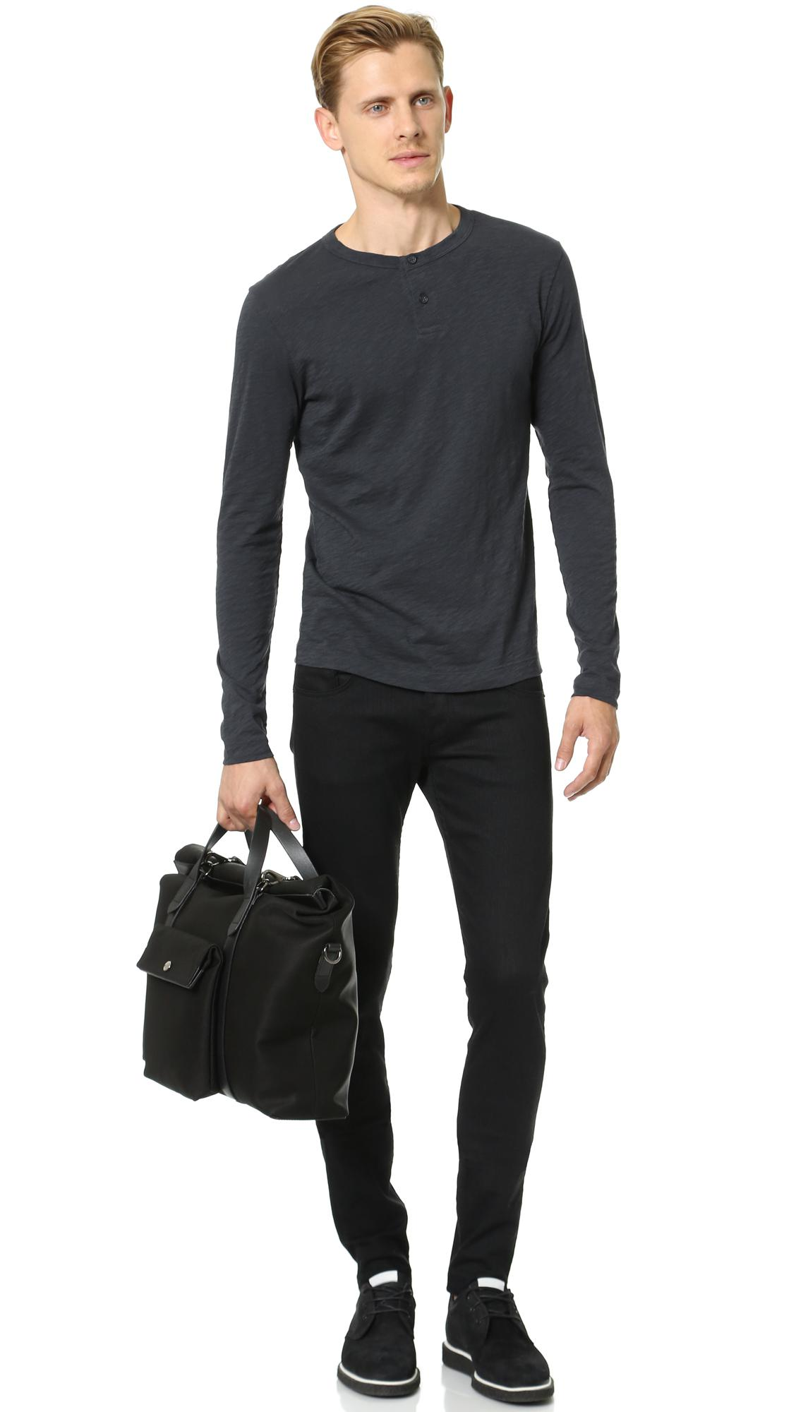 Mismo M / S Soft Work Tote in Black/Black (Black) for Men