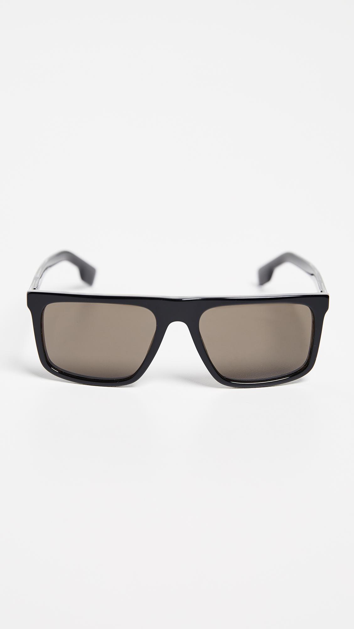 ff46f437236 Burberry Flat Top Sunglasses for Men - Lyst