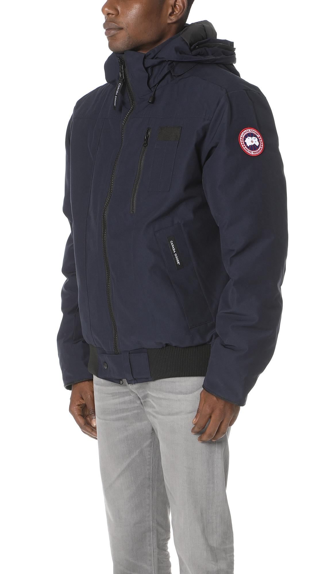 3022329d240 ... low cost lyst canada goose borden bomber jacket in blue for men a9617  6b3af