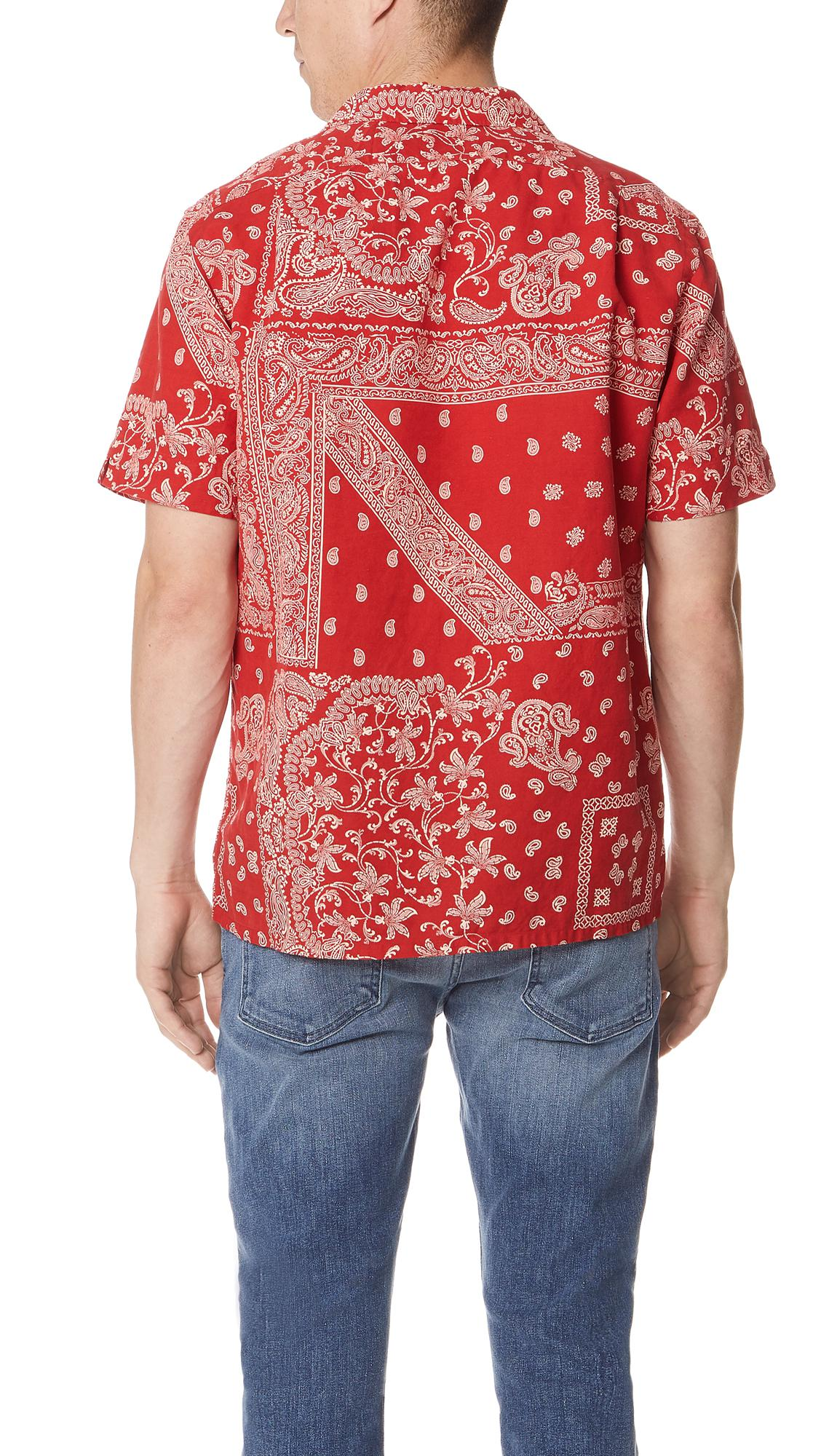 b37cd36f4 ... promo code for lyst polo ralph lauren bandana shirt in red for men  d852a f8f5a
