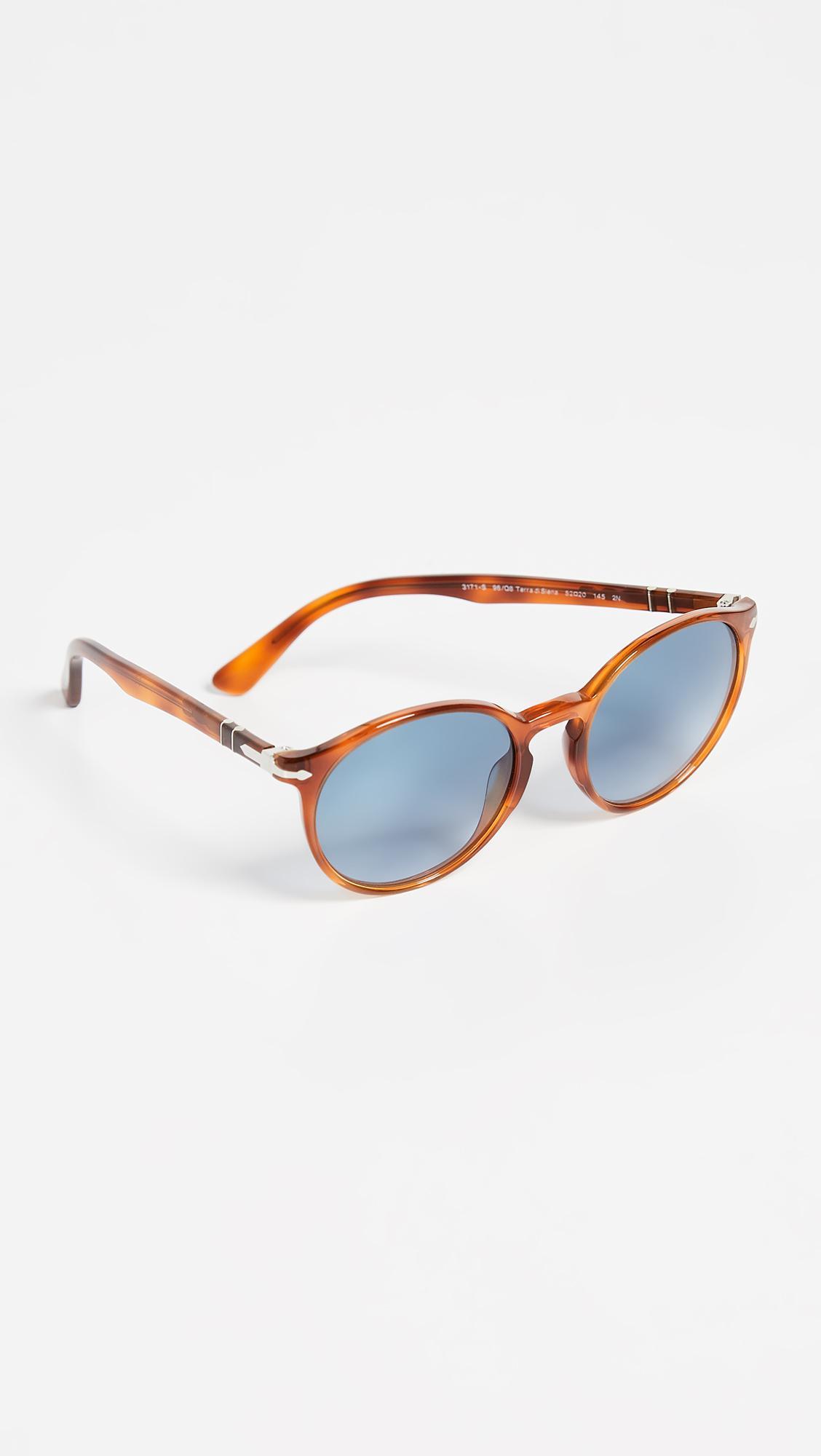 3cea9e1e6567a Persol - Blue Terra Di Siena Round Sunglasses for Men - Lyst. View  fullscreen