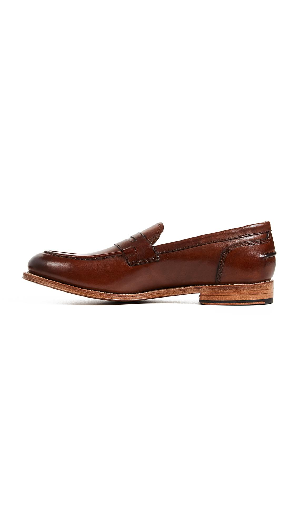 Grenson Leather Maxwell Loafers in Tan (Brown) for Men