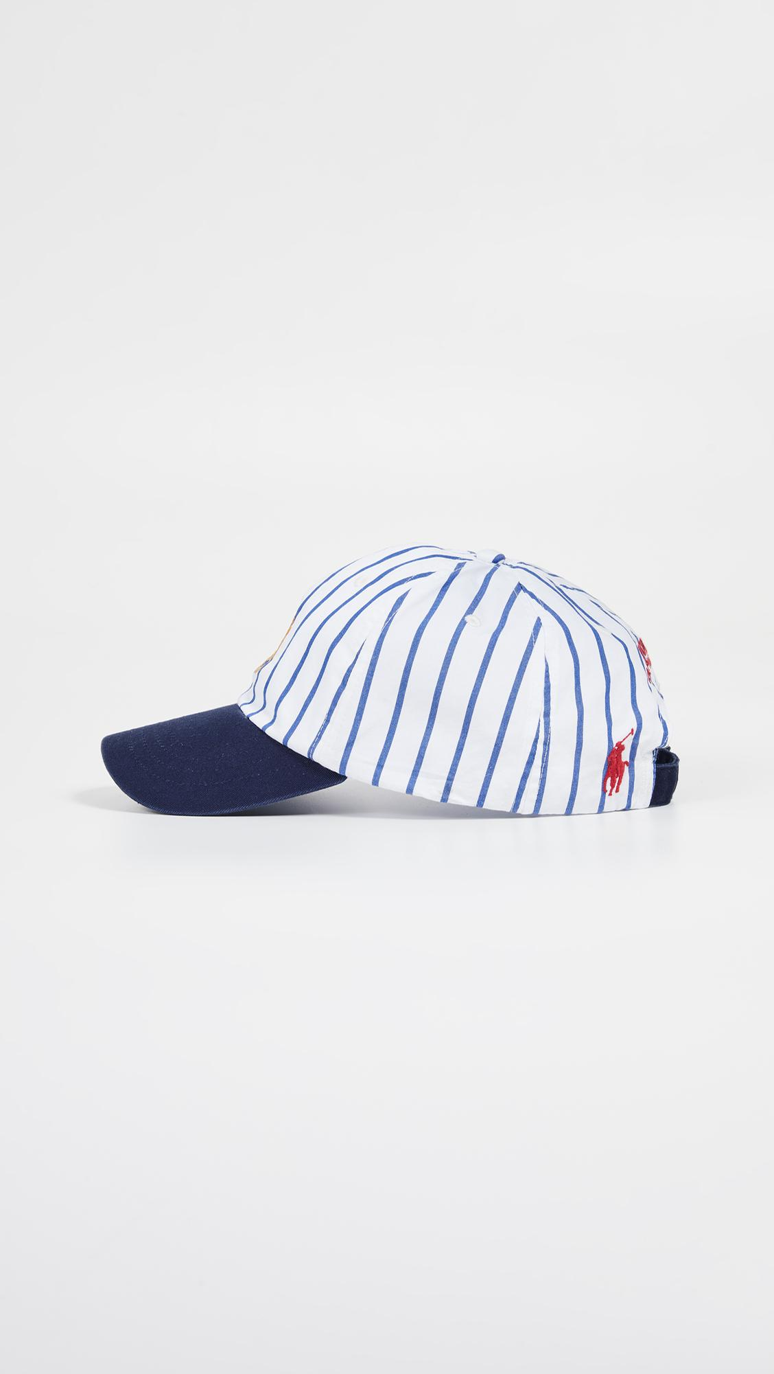 c7e4322b258 Polo Ralph Lauren - Blue Baseball Cap With Navy Peak And Embroidered Crest  In White . View fullscreen