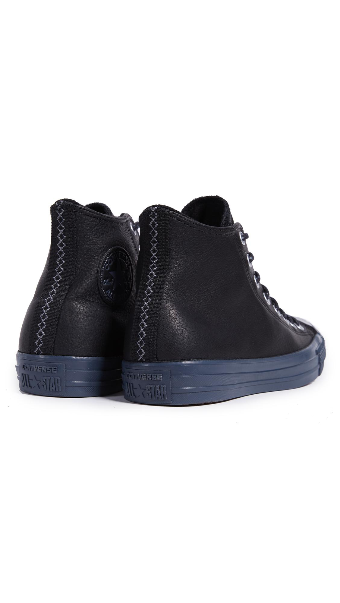 Converse Fleece Chuck Taylor Hi With Thermal Lining in Black/Black (Black) for Men