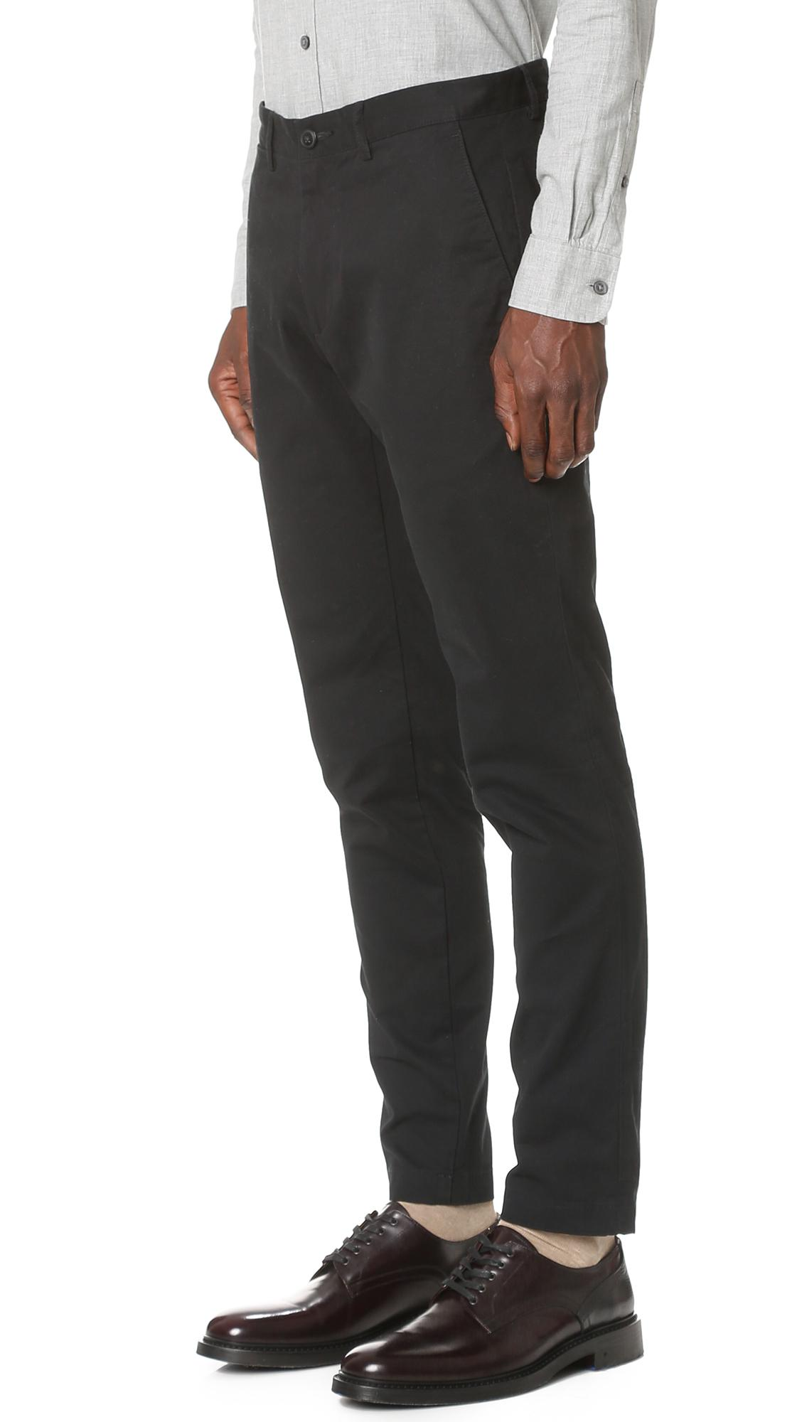 Club Monaco Cotton Connor Chinos in Black for Men