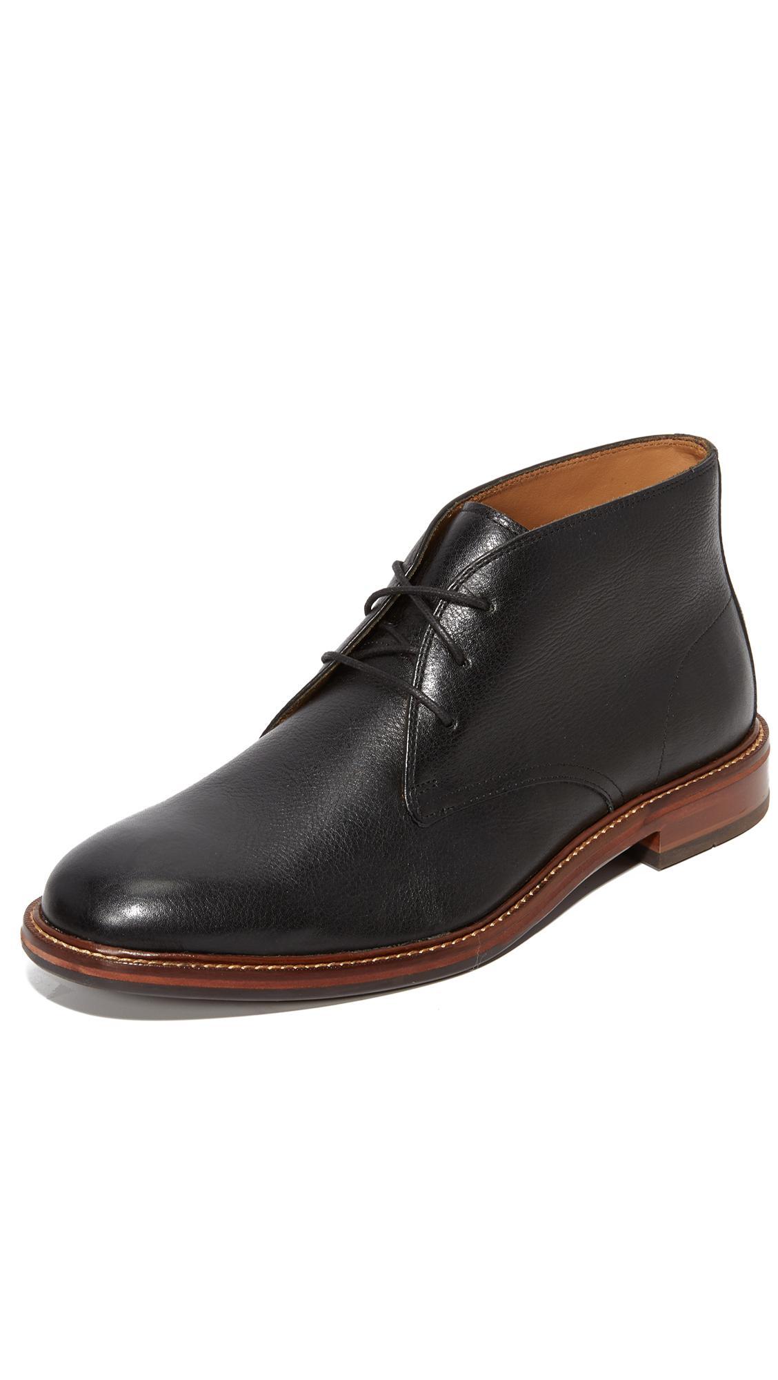 cole haan black chukka boots