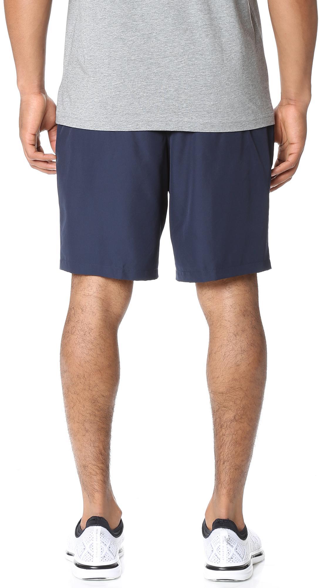 f6aae98cde4e9 Lacoste - Blue Diamond Weave Taffeta Tennis Shorts for Men - Lyst. View  fullscreen
