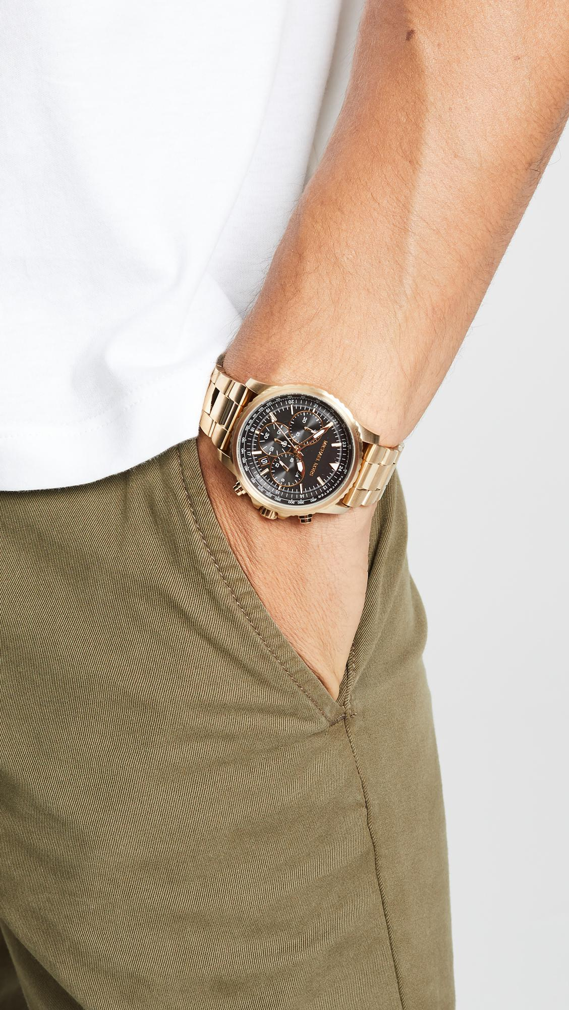 7818869682b0 Lyst - Michael Kors Theroux Watch in Metallic for Men