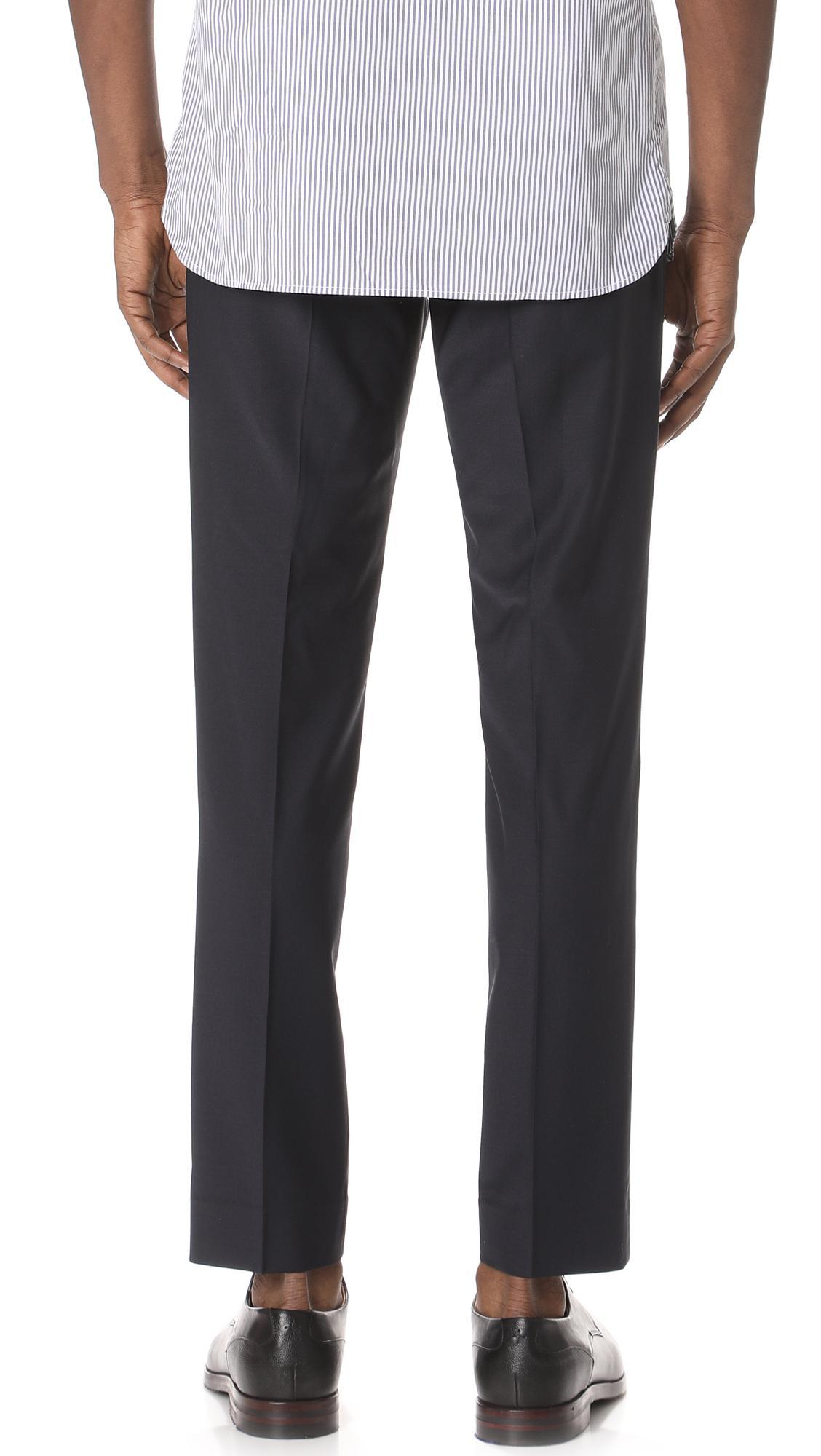 Club Monaco Wool Sutton Trousers in Navy (Blue) for Men