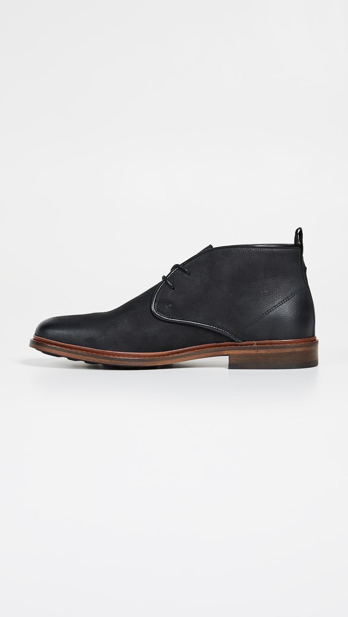 56988cbfe60 Men's Black Dalton Leather Chukka Boots