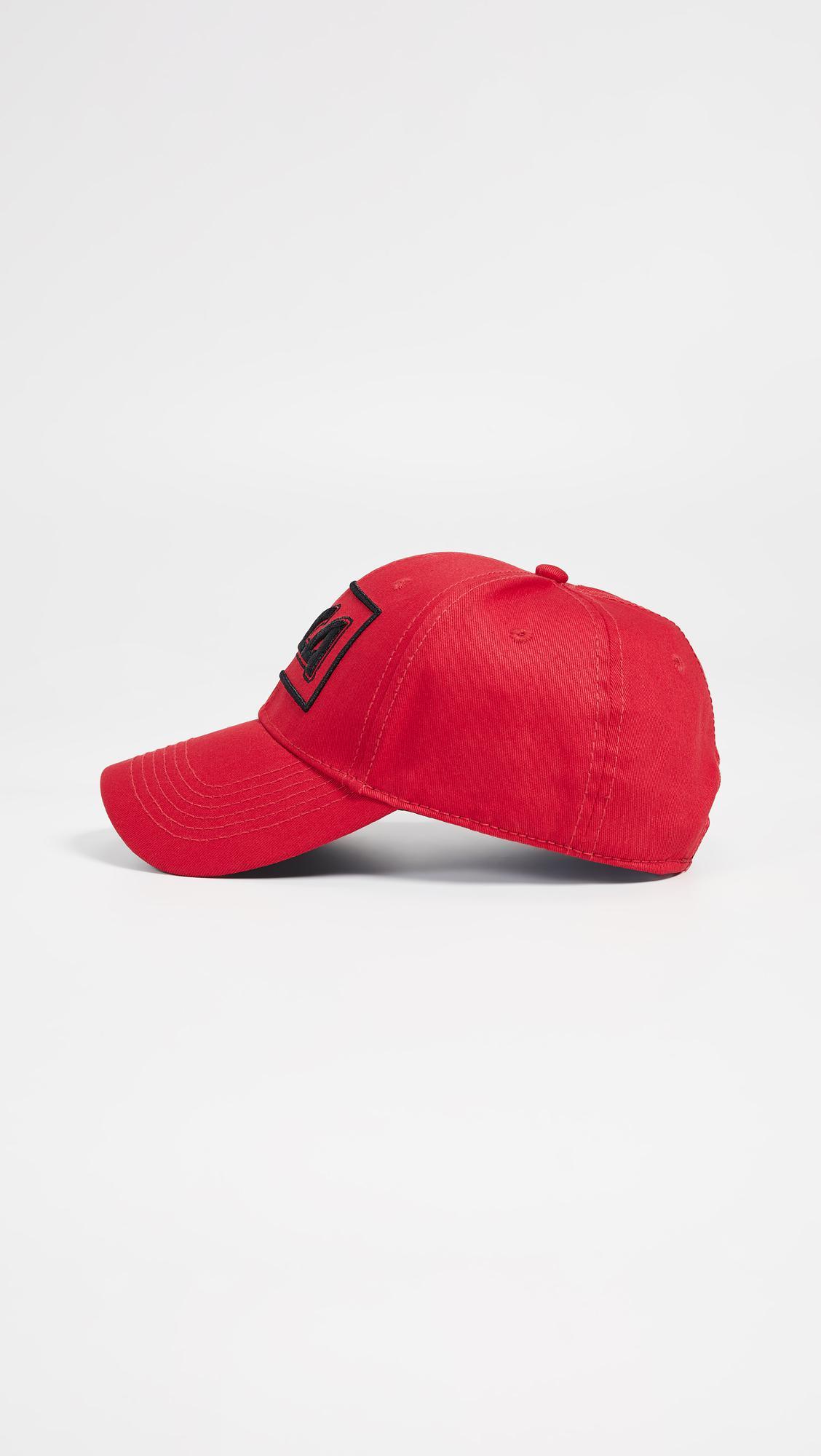 McQ Alexander McQueen - Red Metal Logo Baseball Cap for Men - Lyst. View  fullscreen c56f7106b8dd