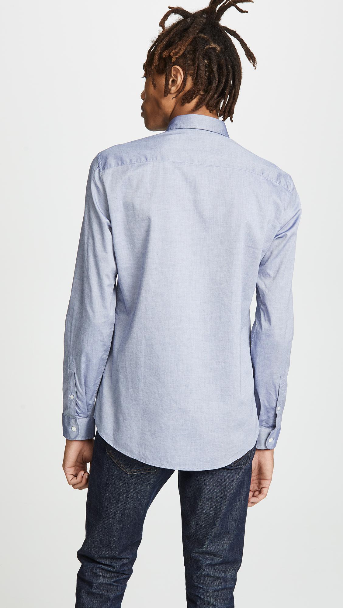 9d013f97 KENZO - Blue Eye Crest Slim Fit Shirt for Men - Lyst. View fullscreen