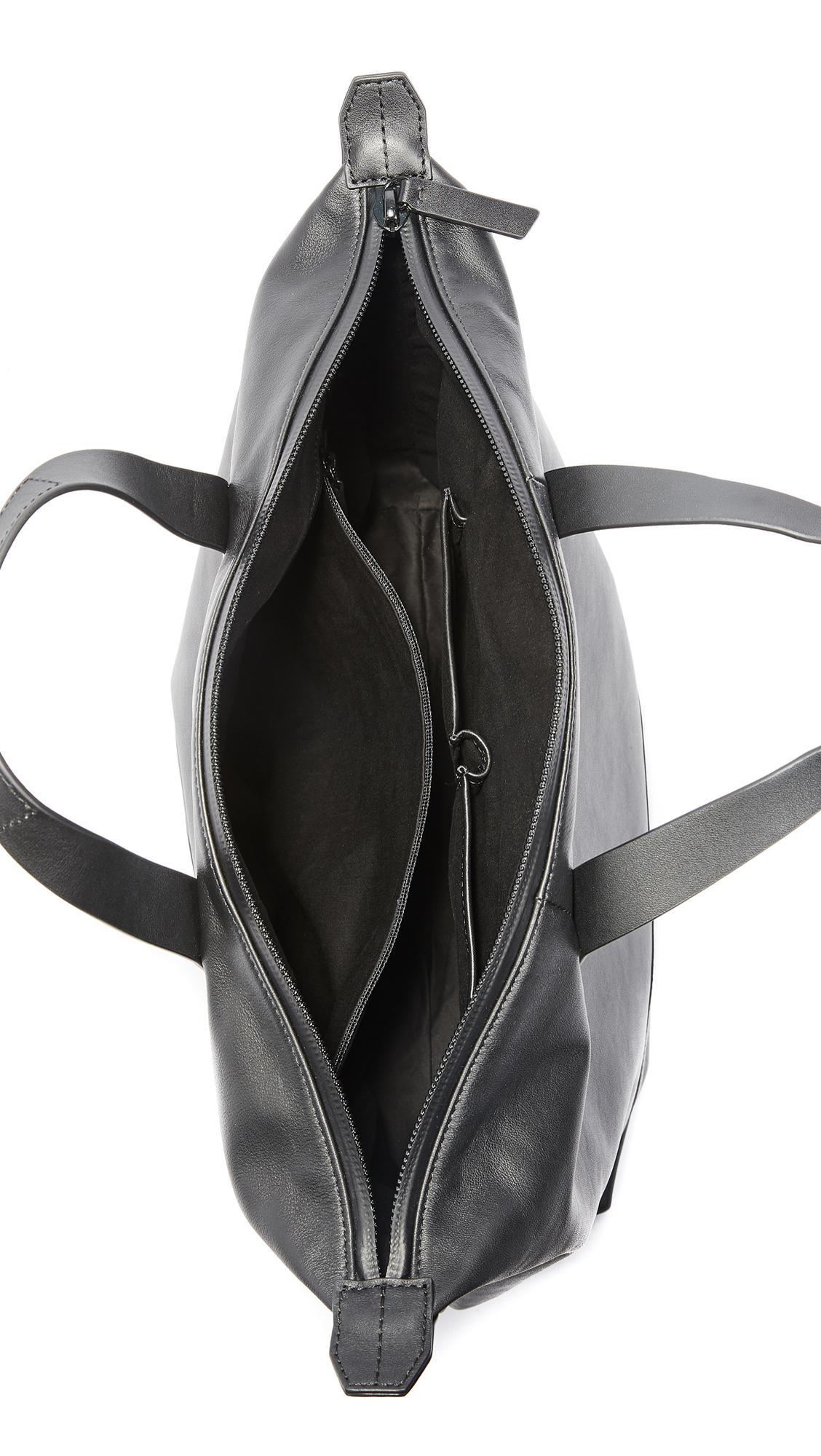 Uri Minkoff Leather Chelsea Double Zip Tote in Black for Men